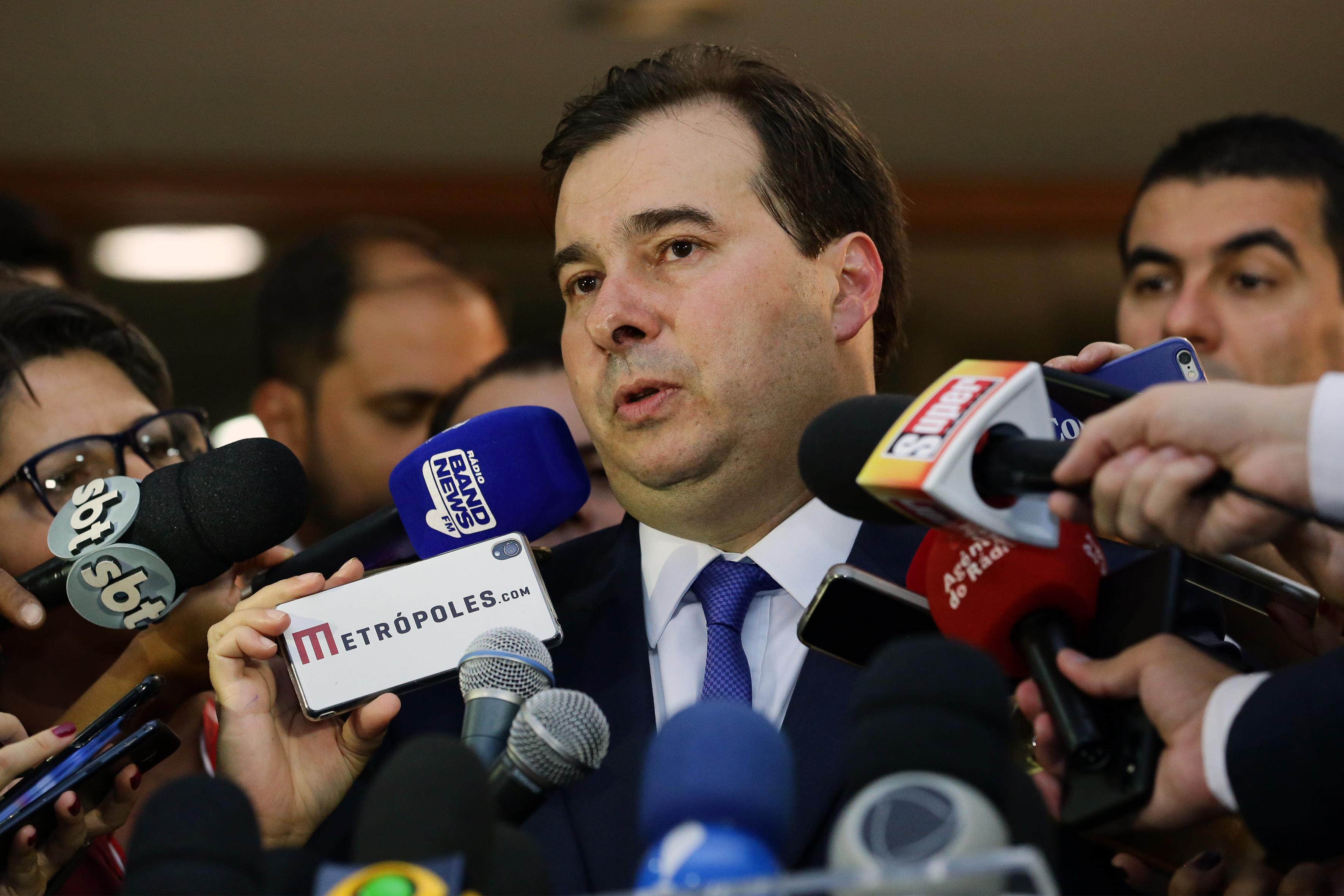 Dep. Rodrigo Maia (DEM-RJ) presidente da câmara eleito, concede entrevista