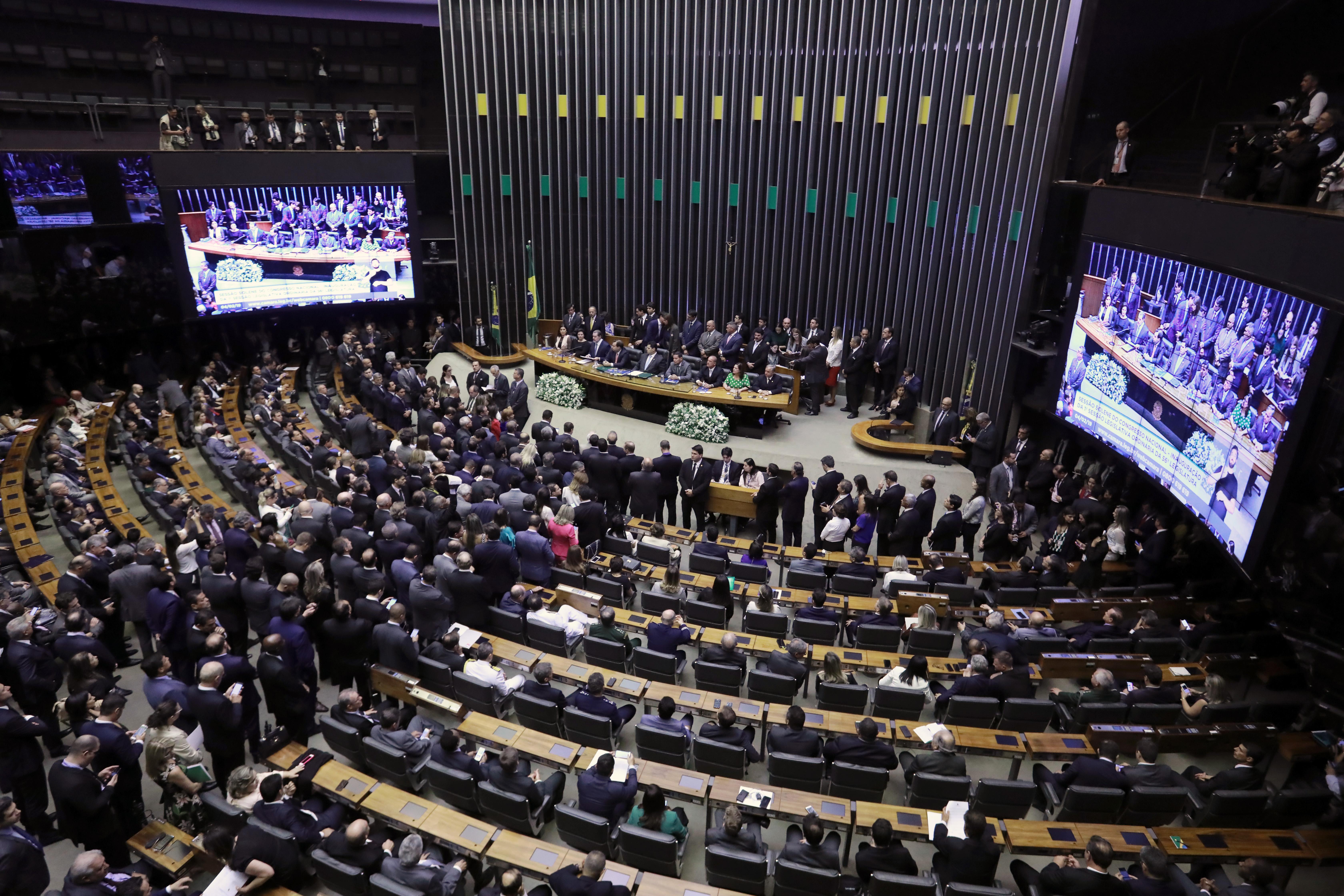 O Congresso Nacional inicia hoje os trabalhos legislativos de 2019, em sessão solene conjunta da Câmara e do Senado