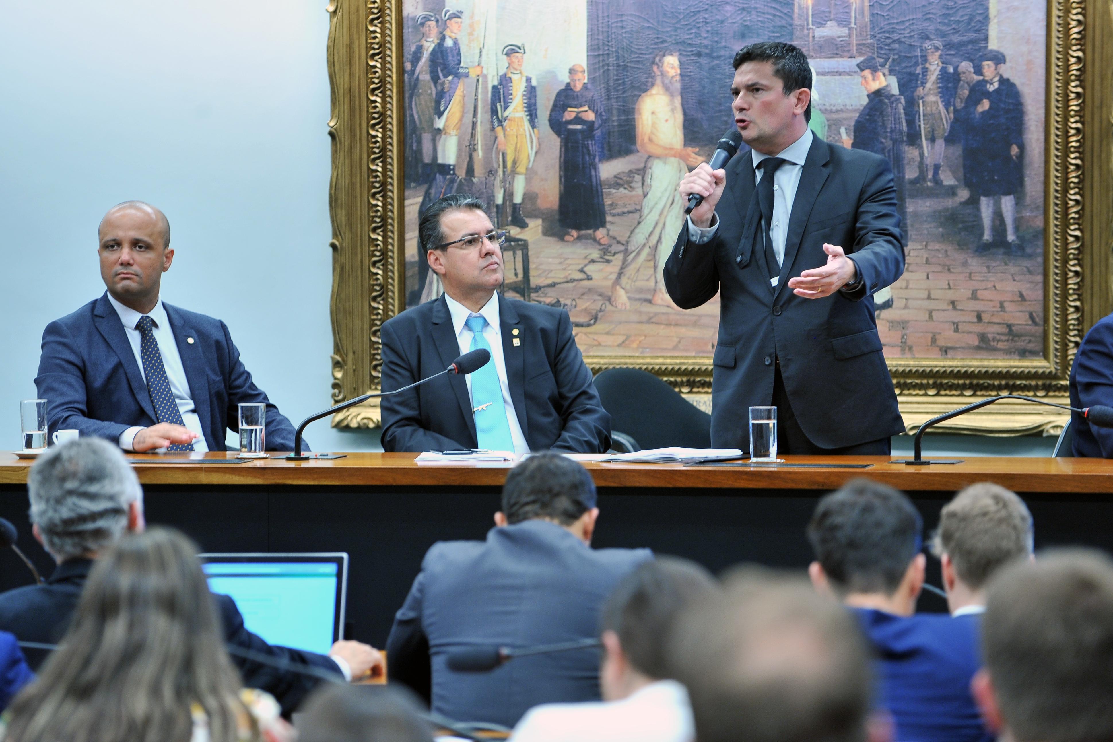 Frente Parlamentar de Segurança Pública, com a presença do Ministro da Justiça, Sérgio Moro.