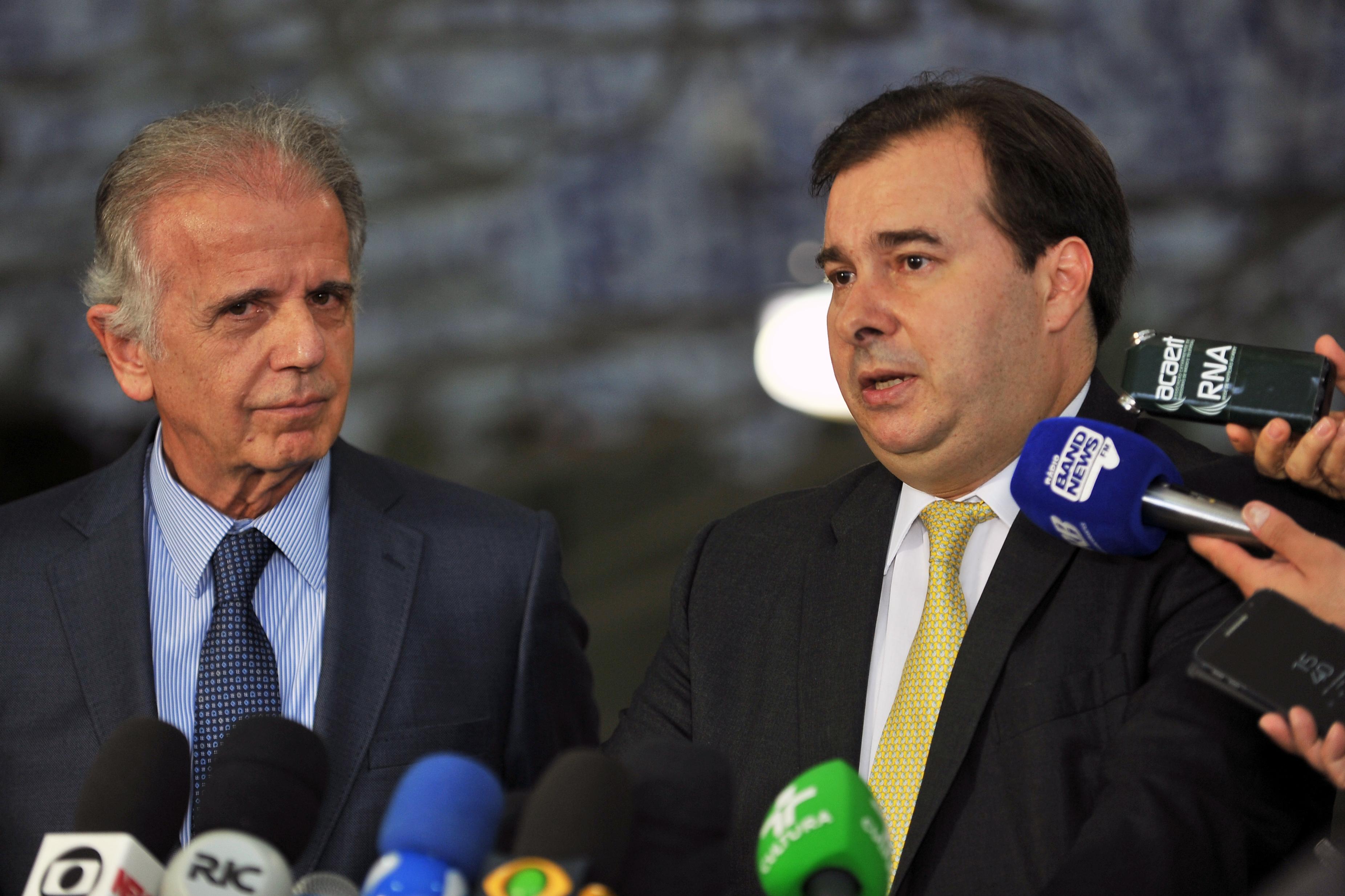 Presidente da Câmara dos Deputados, Dep. Rodrigo Maia, recebe o presidente do TCU, Ministro José Múcio Monteiro.