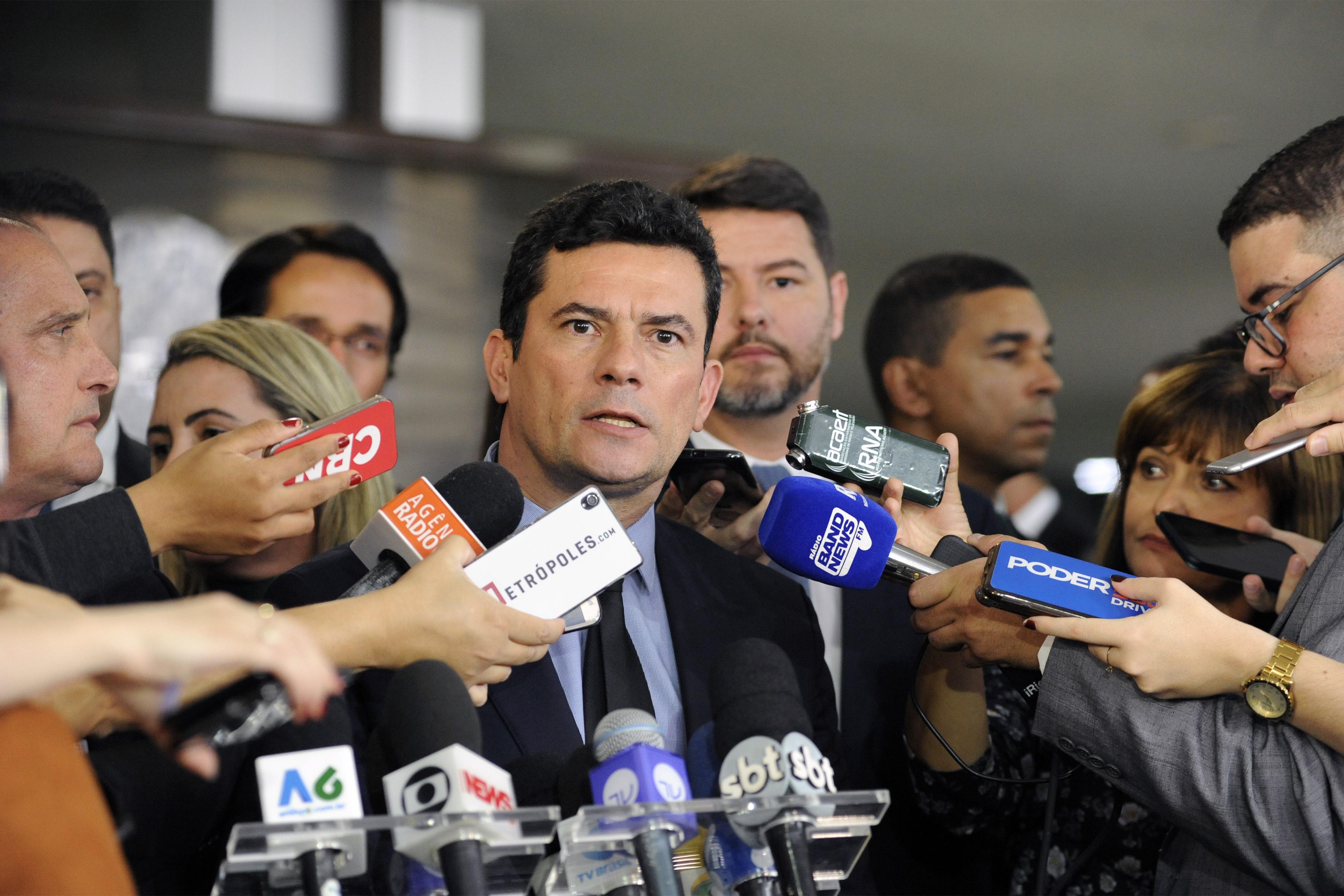 Entrega do pacote anticrimes. Ministro da Justiça e Segurança Pública do Brasil, Sérgio Moro