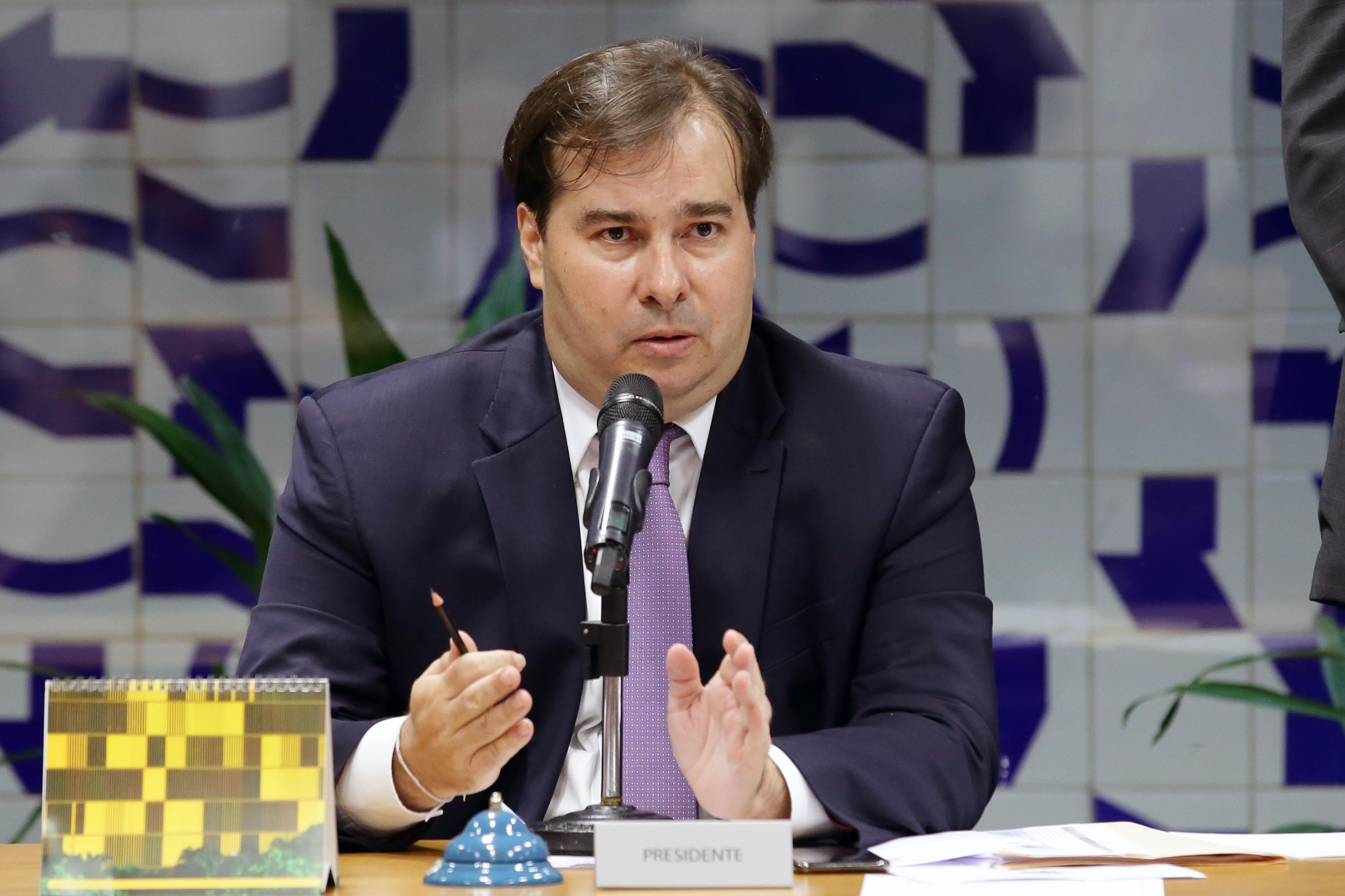 Reunião de líderes para definição da pauta da semana. Presidente da Câmara dos Deputados, Dep. Rodrigo Maia (DEM-RJ)