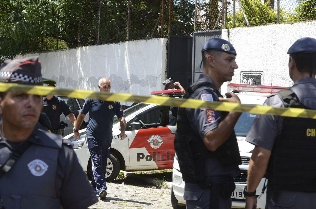 Fotos do Dia - atiradores matam crianças em escola de Suzano (SP) 13/03/19