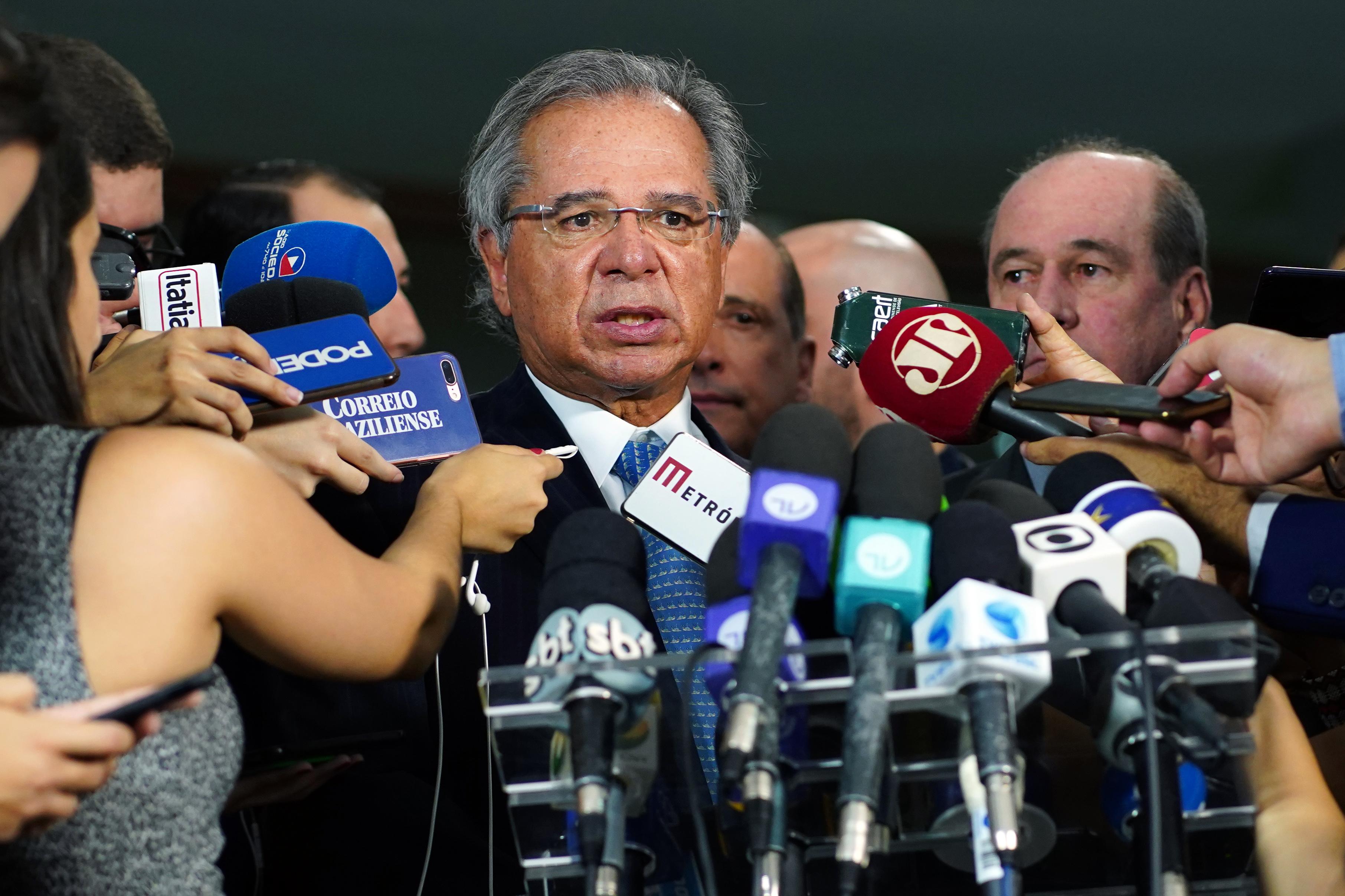 Entrega da proposta de reforma da previdência dos militares. Ministro da Economia do Brasil, Paulo Guedes
