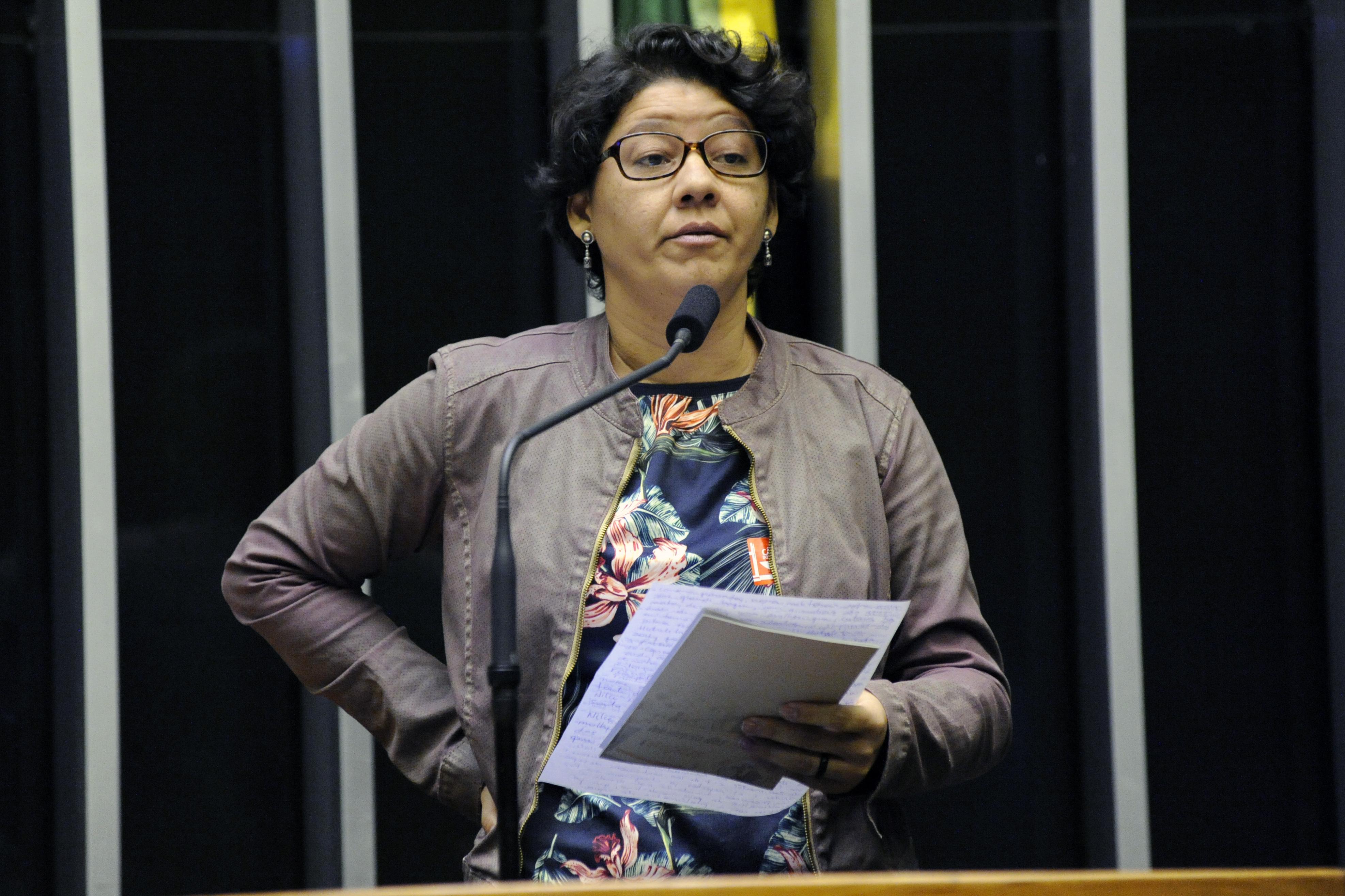 Homenagem ao Dia Internacional do Direito à Verdade. Representante do Movimento dos Atingidos por Barragens, Adriana Dantas