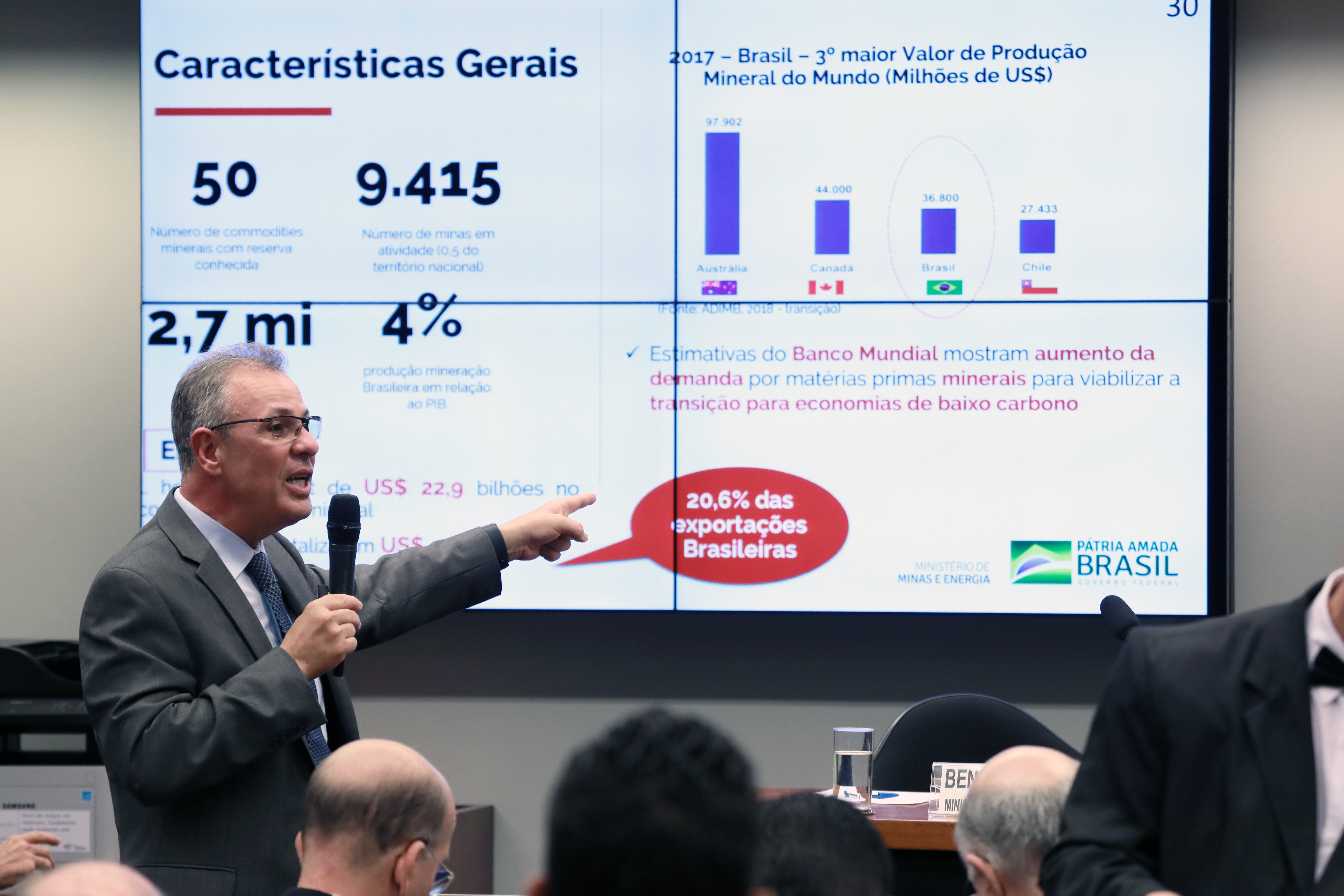 Reunião ordinária com o ministro de Minas e Energia, Bento Costa Lima Leite de Albuquerque, para debater o Plano de Governo, entre outros assuntos