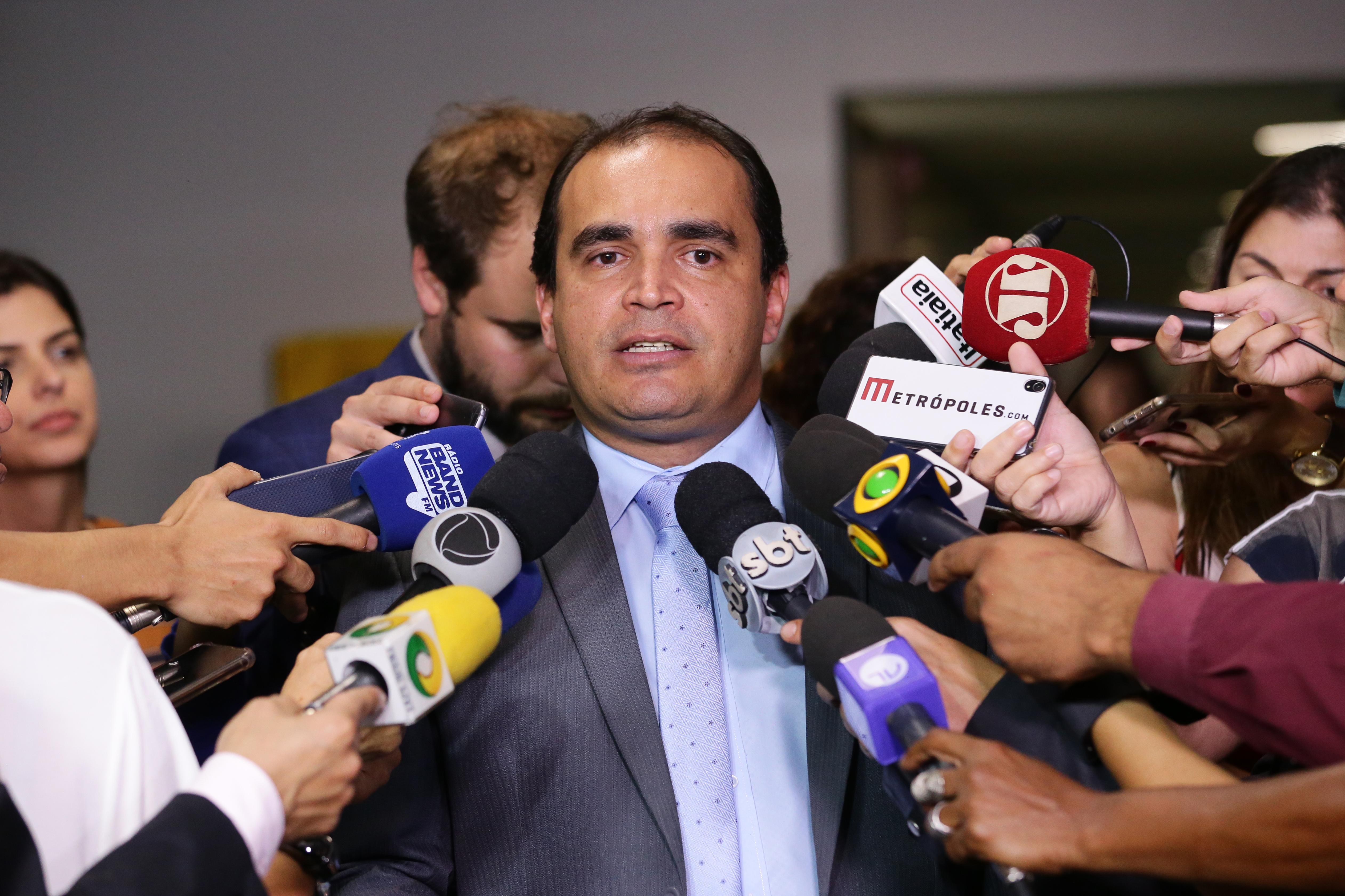 Relator da reforma da Previdência na CCJC da Câmara, Dep. Delegado Marcelo Freitas (PSL - MG), concede entrevista sobre a reforma da Previdência (PEC 6/19)