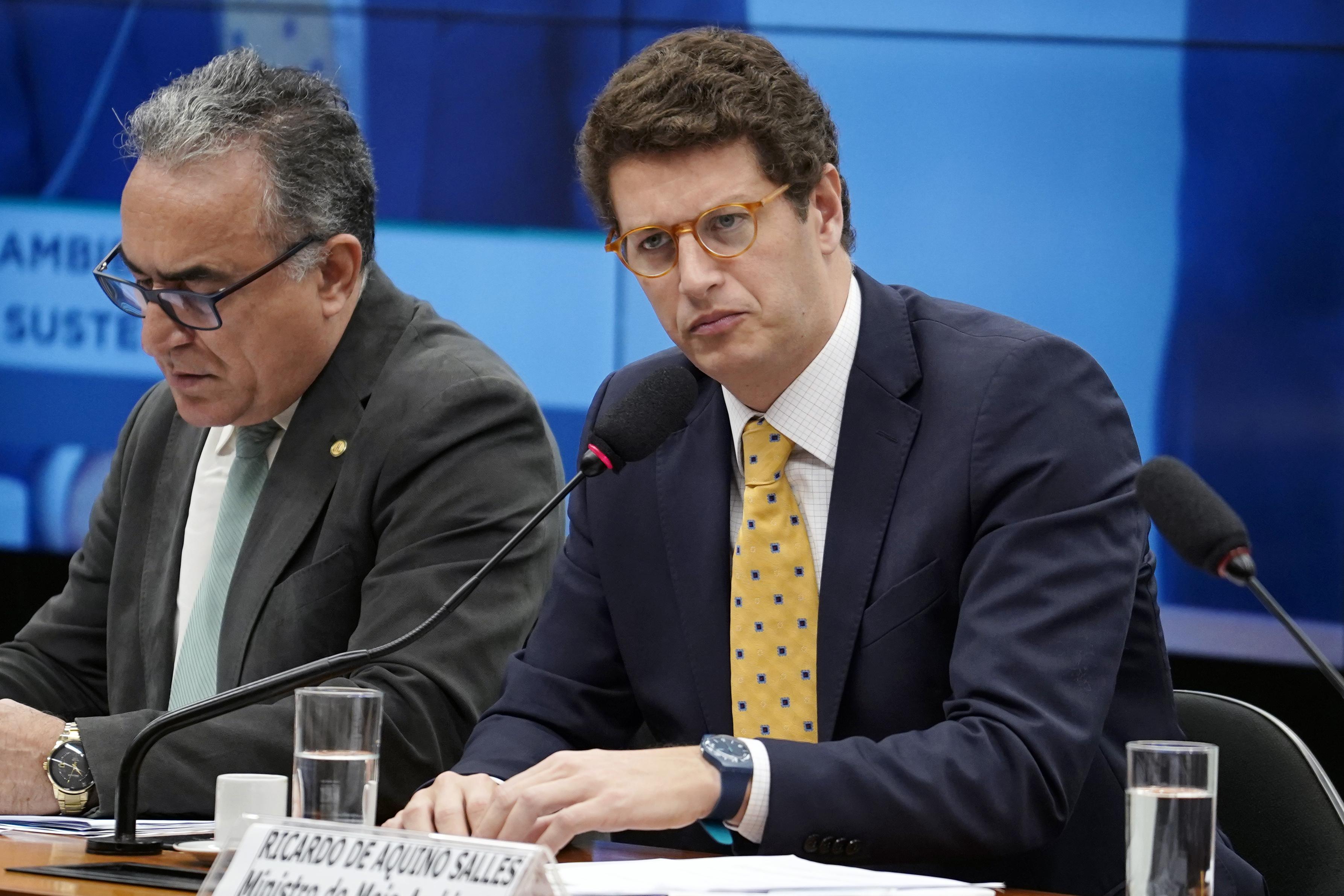 Audiência pública para esclarecimentos de Novos Procedimentos e Acordos do Ministério do Meio Ambiente. Ministro do Meio Ambiente, Ricardo de Aquino Salles