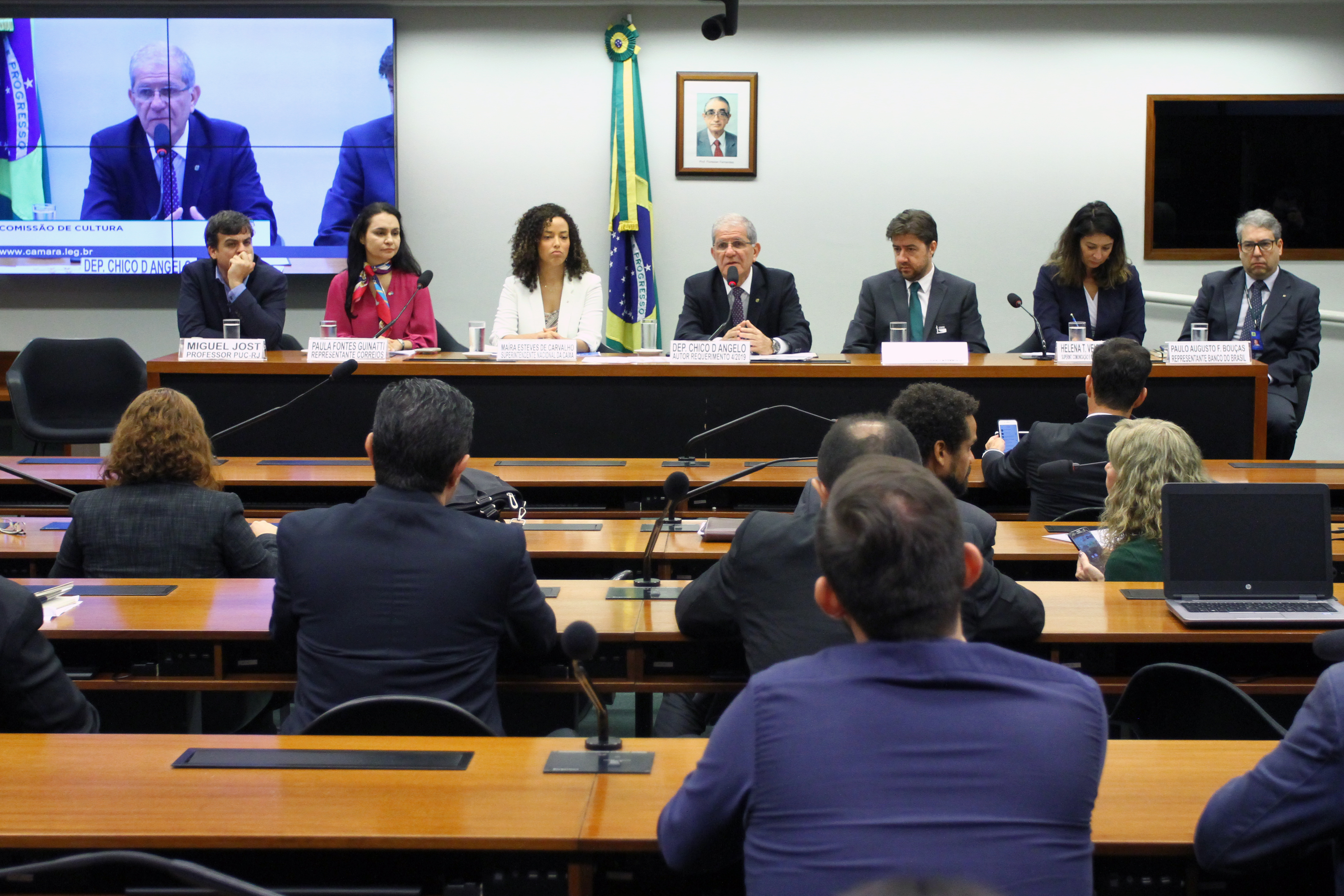 Audiência pública sobre a nova política de patrocínio da CEF, BB, BNDES, Petrobrás e Correios na área da Cultura