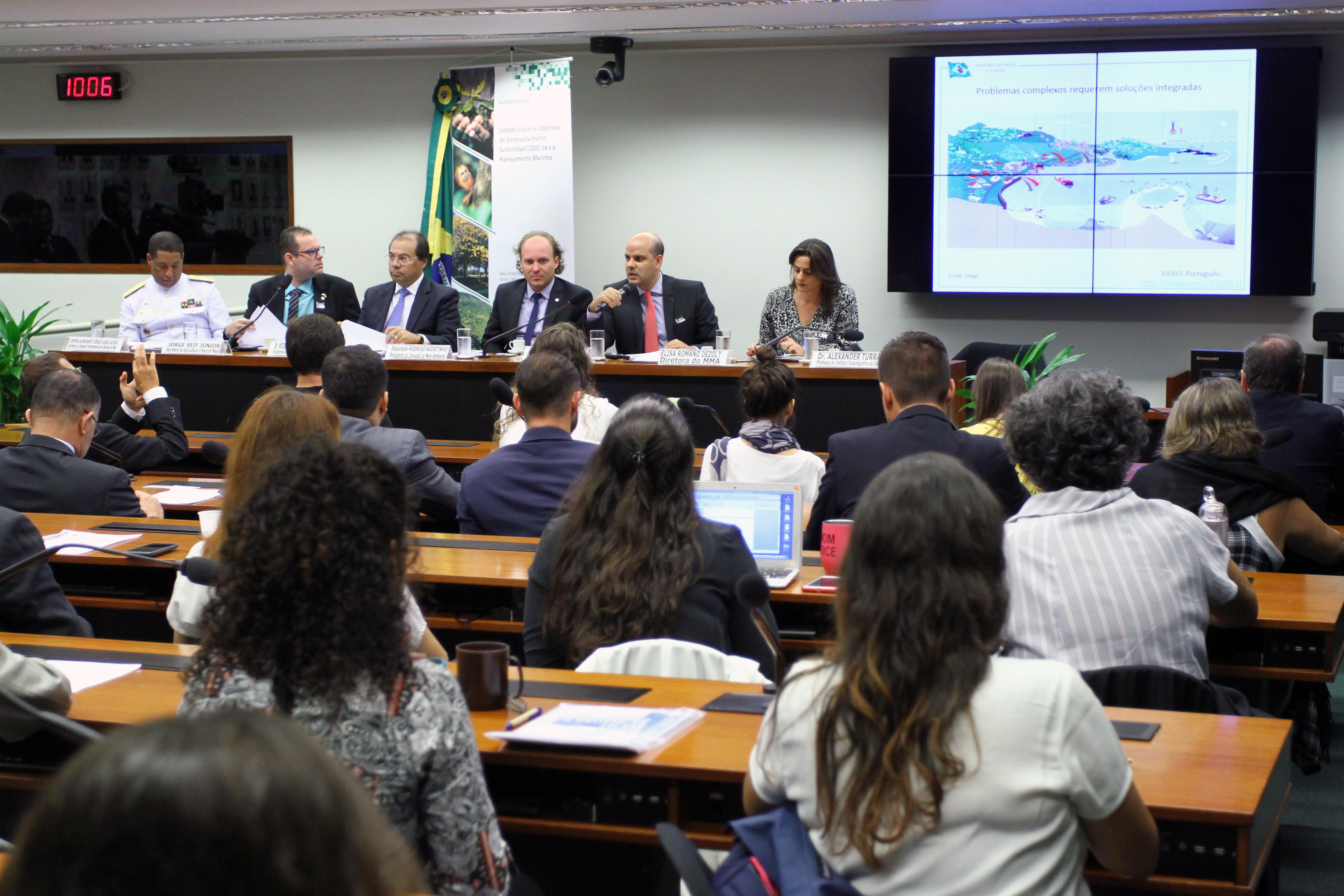 Audiência pública sobre os objetivos de desenvolvimento sustentável (ODS) 14 e o planejamento espacial Marinho