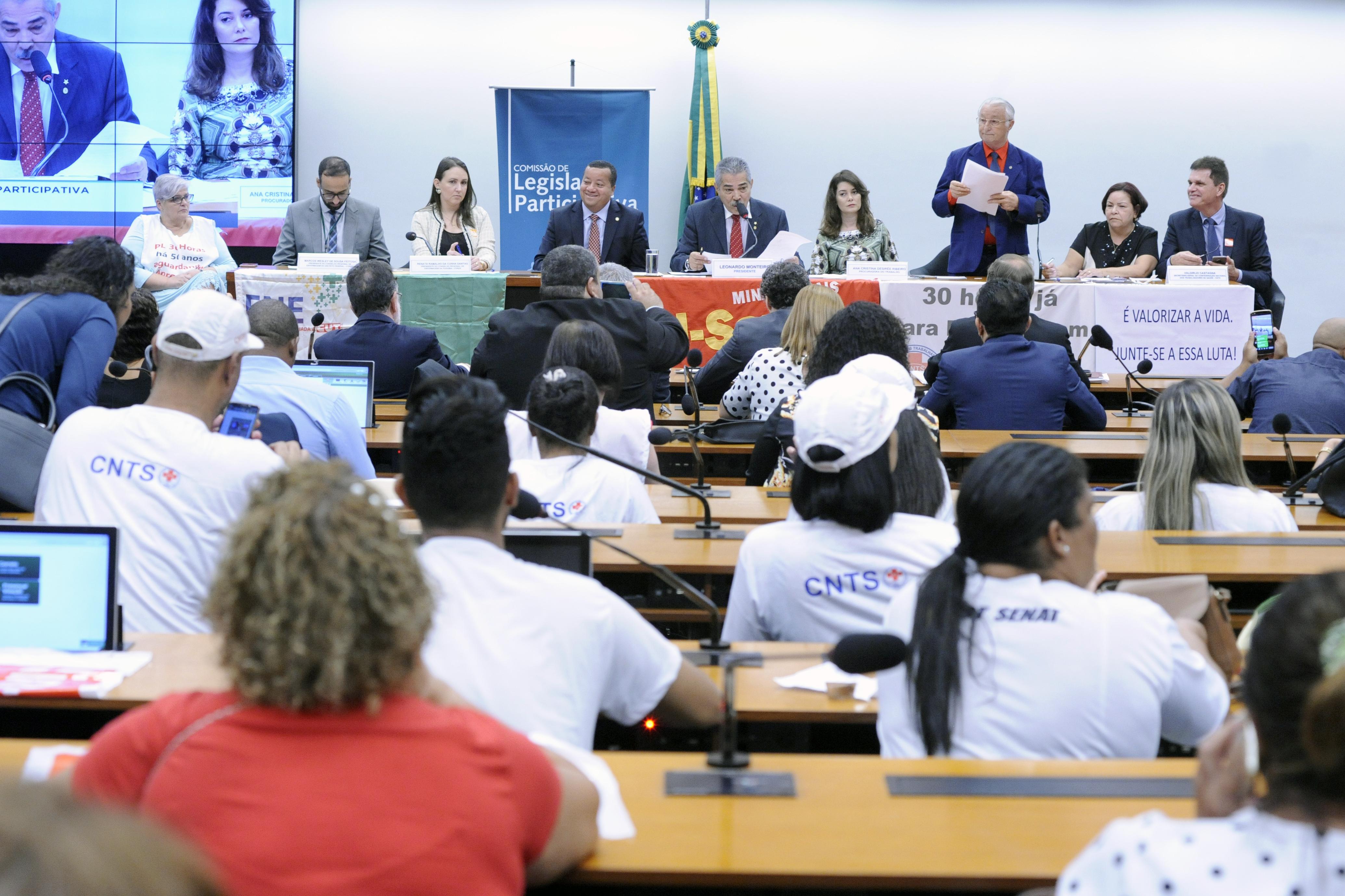 Audiência pública para debater a Jornada de Trabalho dos Enfermeiros, Técnicos e Auxiliares de Enfermagem