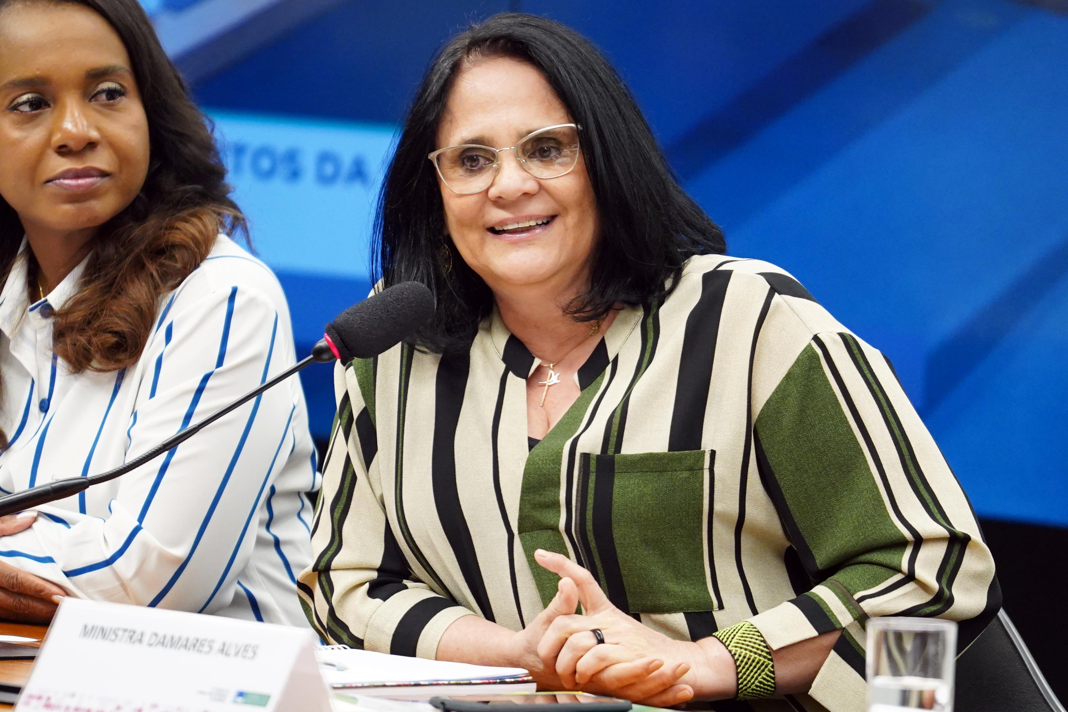 Audiência pública sobre as perspectivas de atuação futura do Ministério da Mulher. Ministra da Mulher, da Família e dos Direitos Humanos, Damares Alves