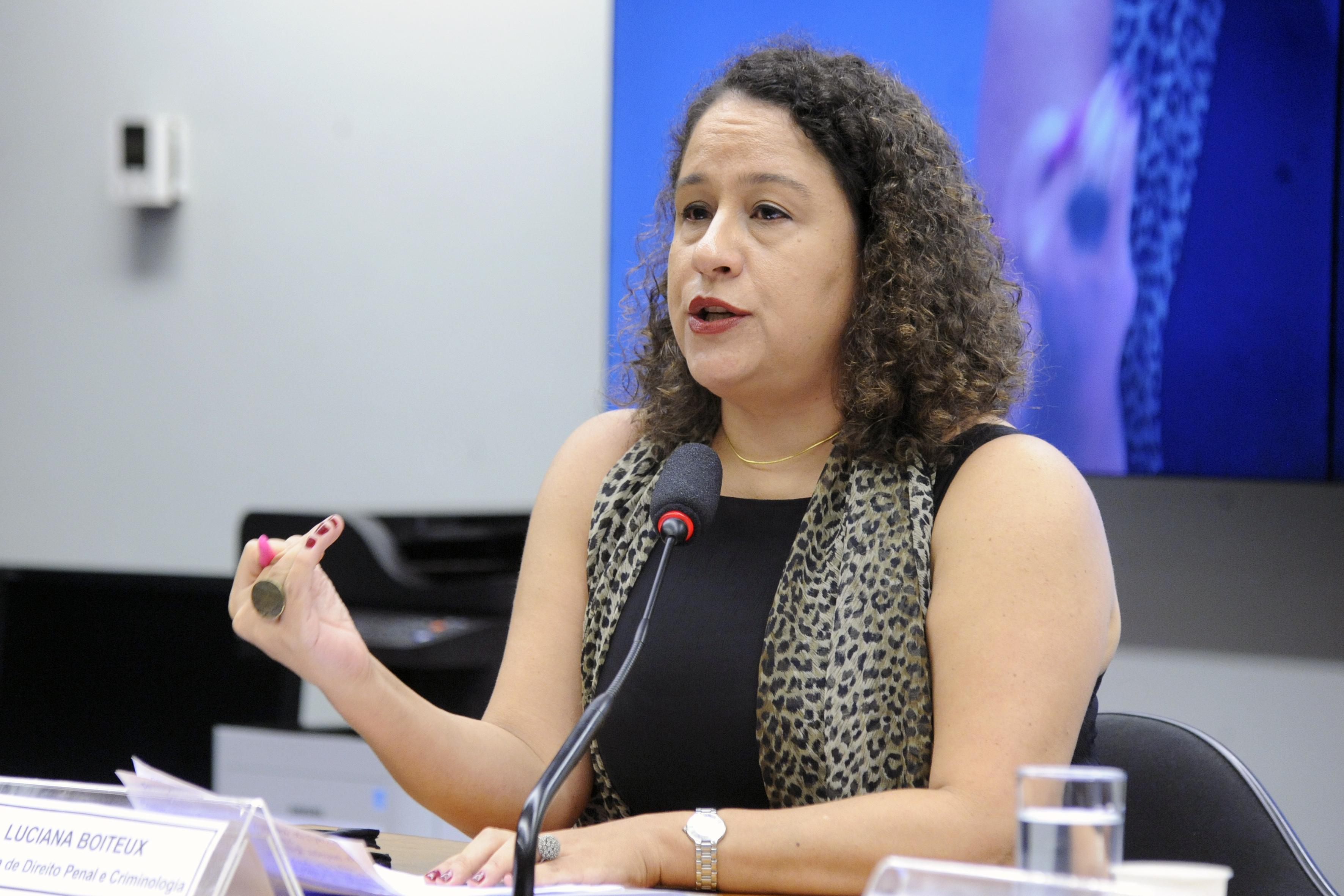 Audiência pública. Professora de Direito Penal e Criminologia da UFRJ, LUCIANA BOITEUX DE FIGUEIREDO RODRIGUES