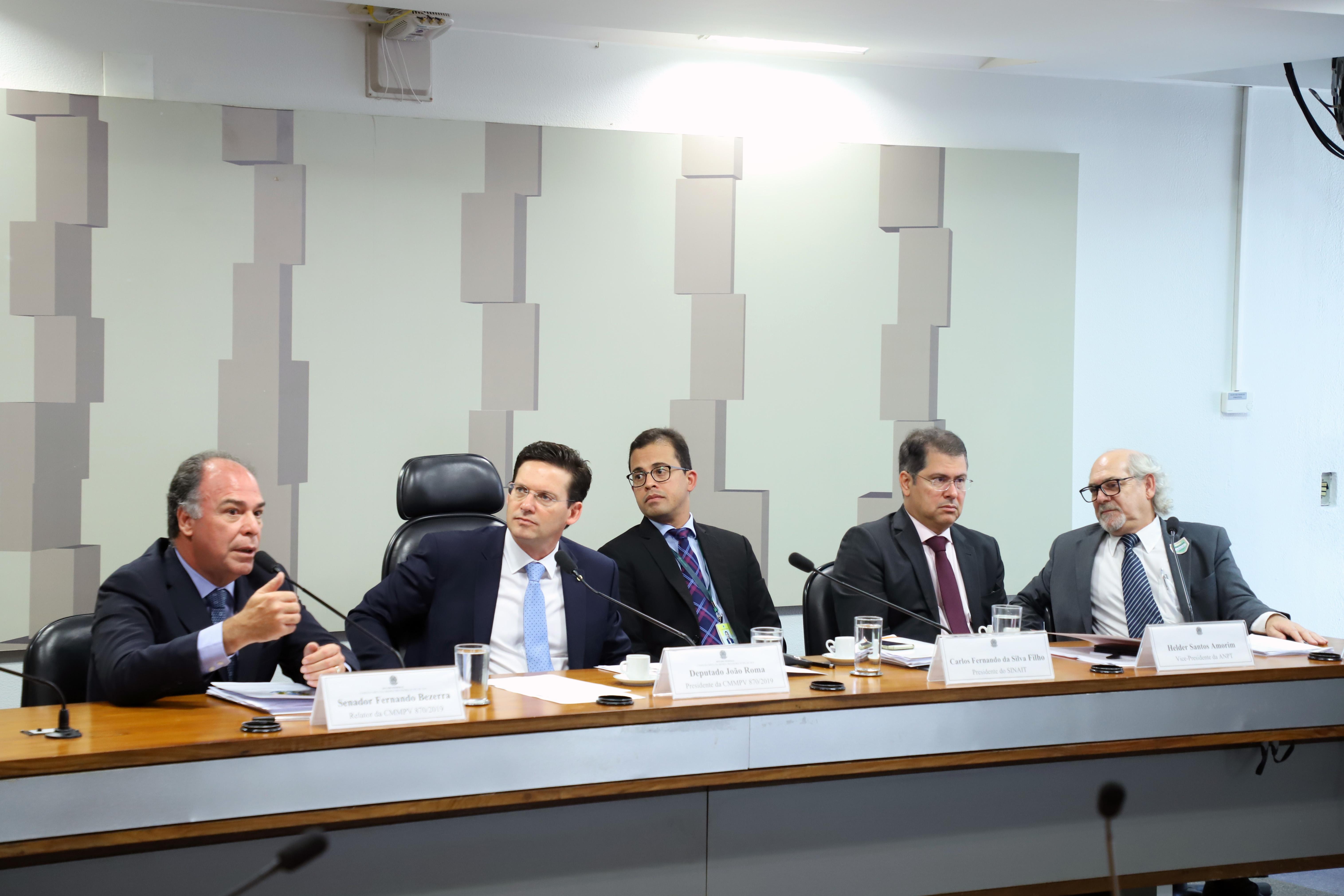 Comissão Mista sobre a MP 870/19, que estabelece a organização básica dos órgãos da Presidência da República e dos Ministérios.