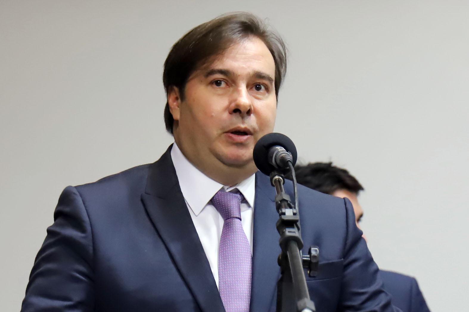 Convenção Nacional Progressistas. Presidente da Câmara dep. Rodrigo Maia (DEM-RJ)