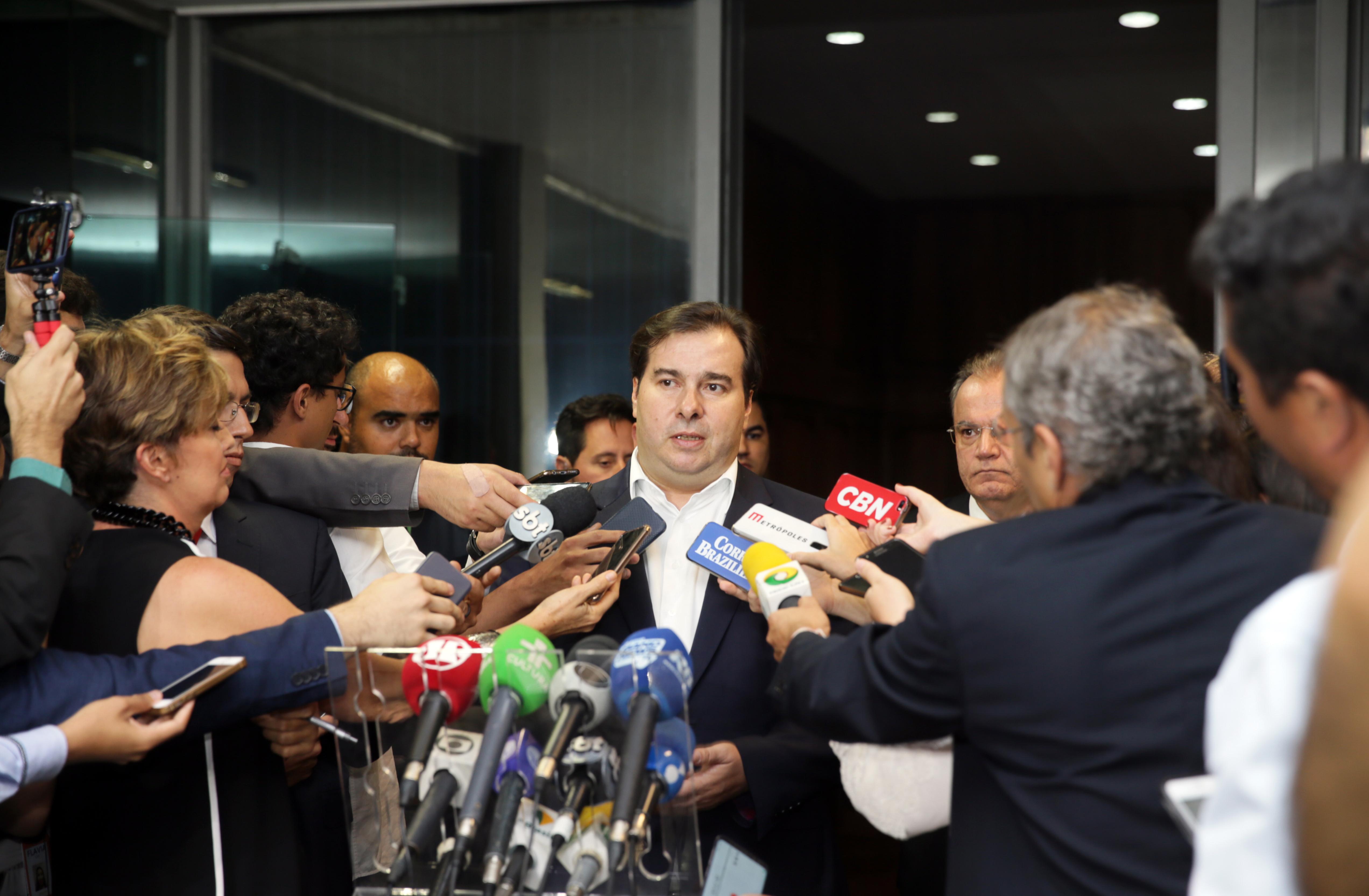 Presidente da Câmara dos Deputados, Rodrigo Maia, no Ministério da Economia.