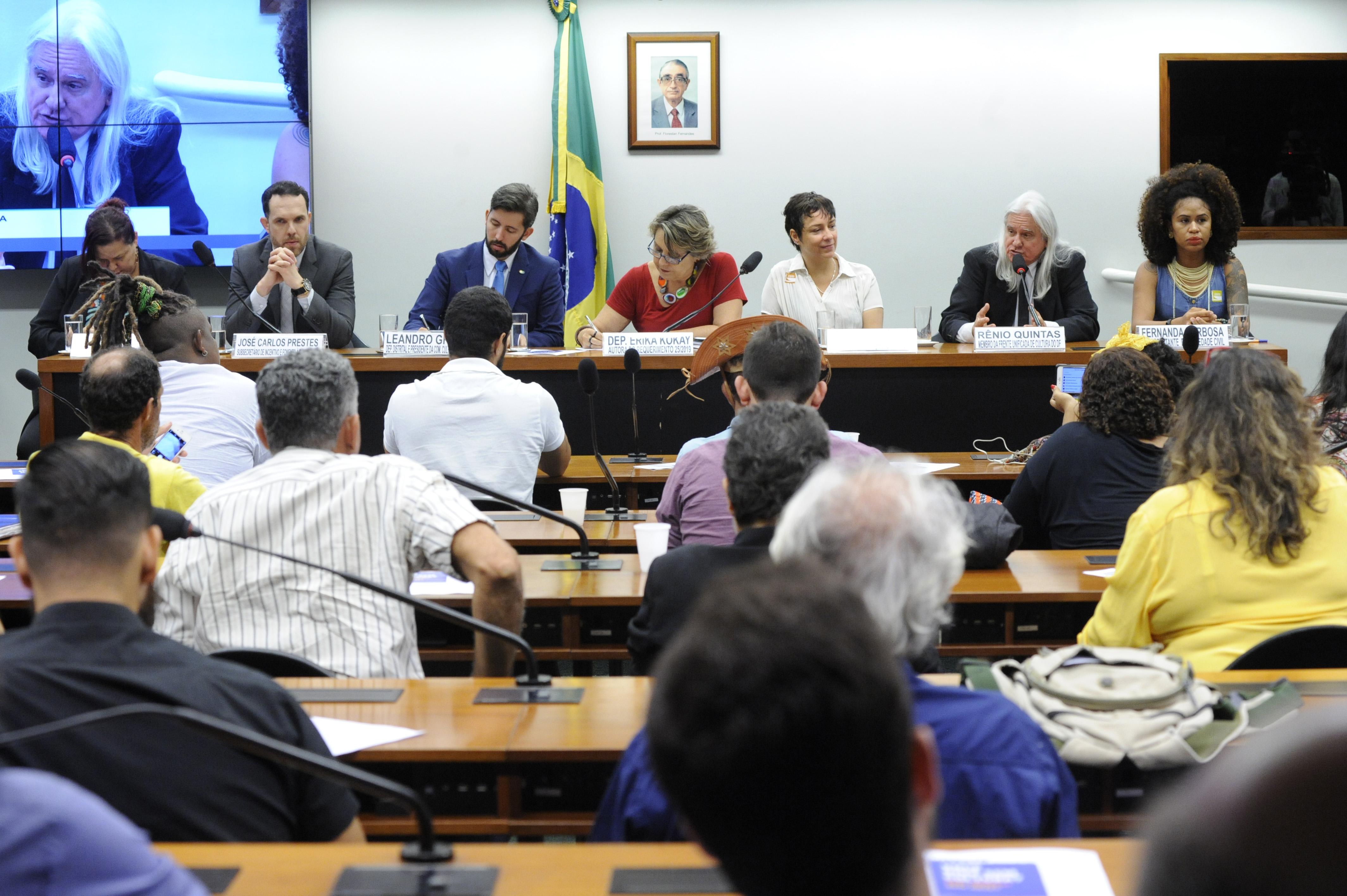 Audiência Pública sobre as ações para a defesa e fortalecimento do Fundo de Apoio à Cultura - (FAC) e da Lei Orgânica da Cultura (LOC) do Distrito Federal