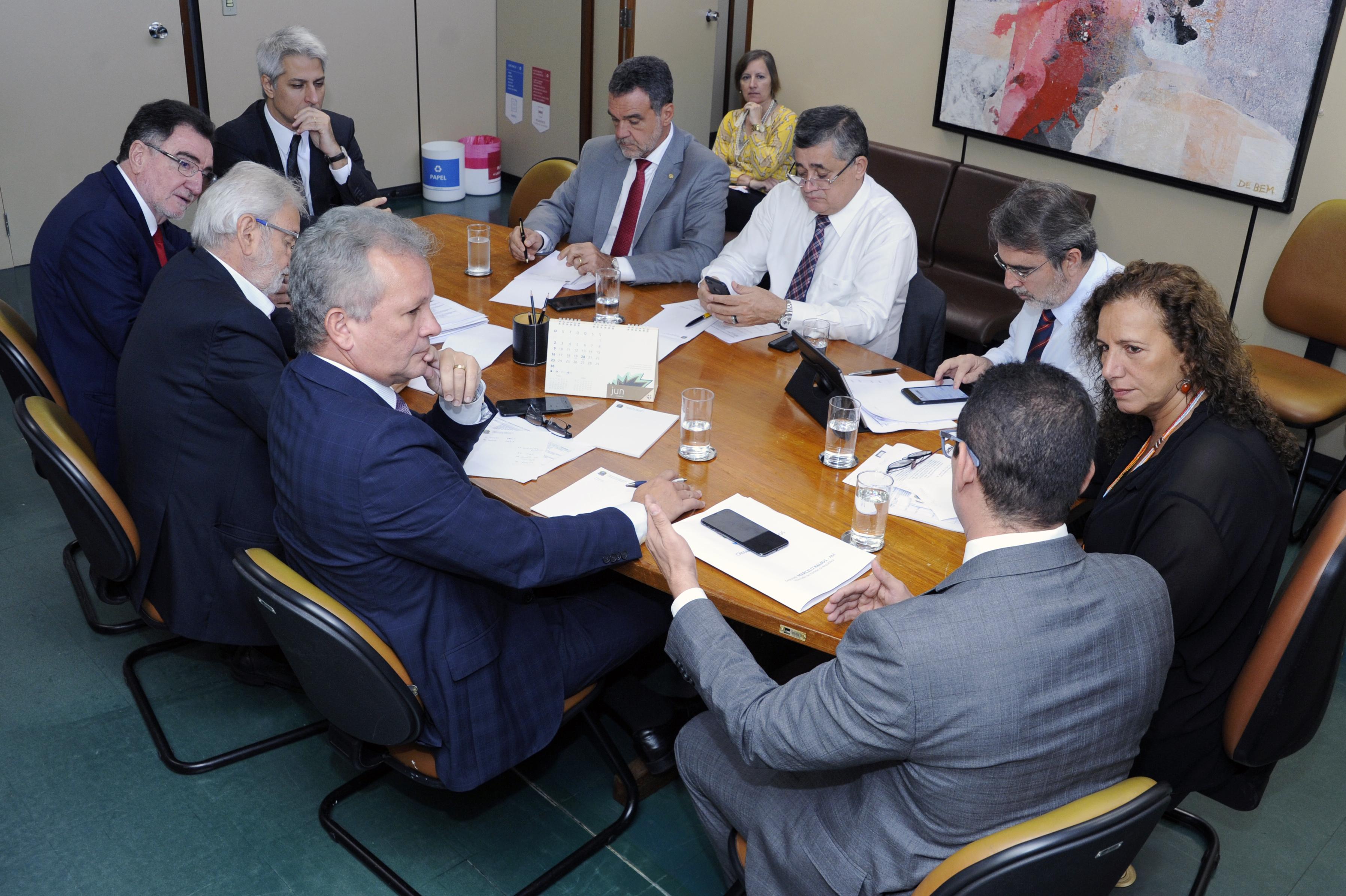 Reunião com parlamentares da minoria