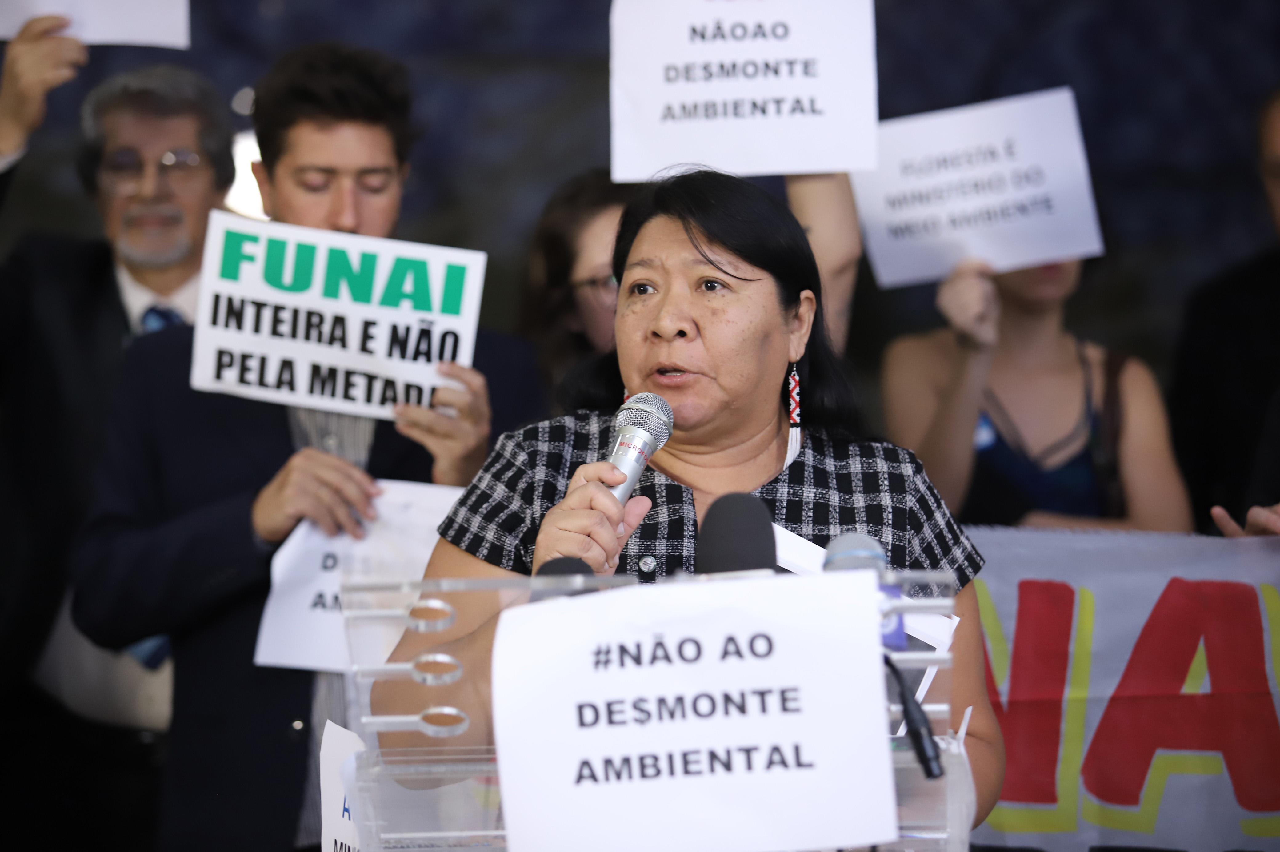 PSOL, Rede, PT, PSB, Frentes Ambientalista e dos Direitos dos Povos Indígenas e organizações da sociedade civil. Dep. Joenia Wapichana (REDE - RR)