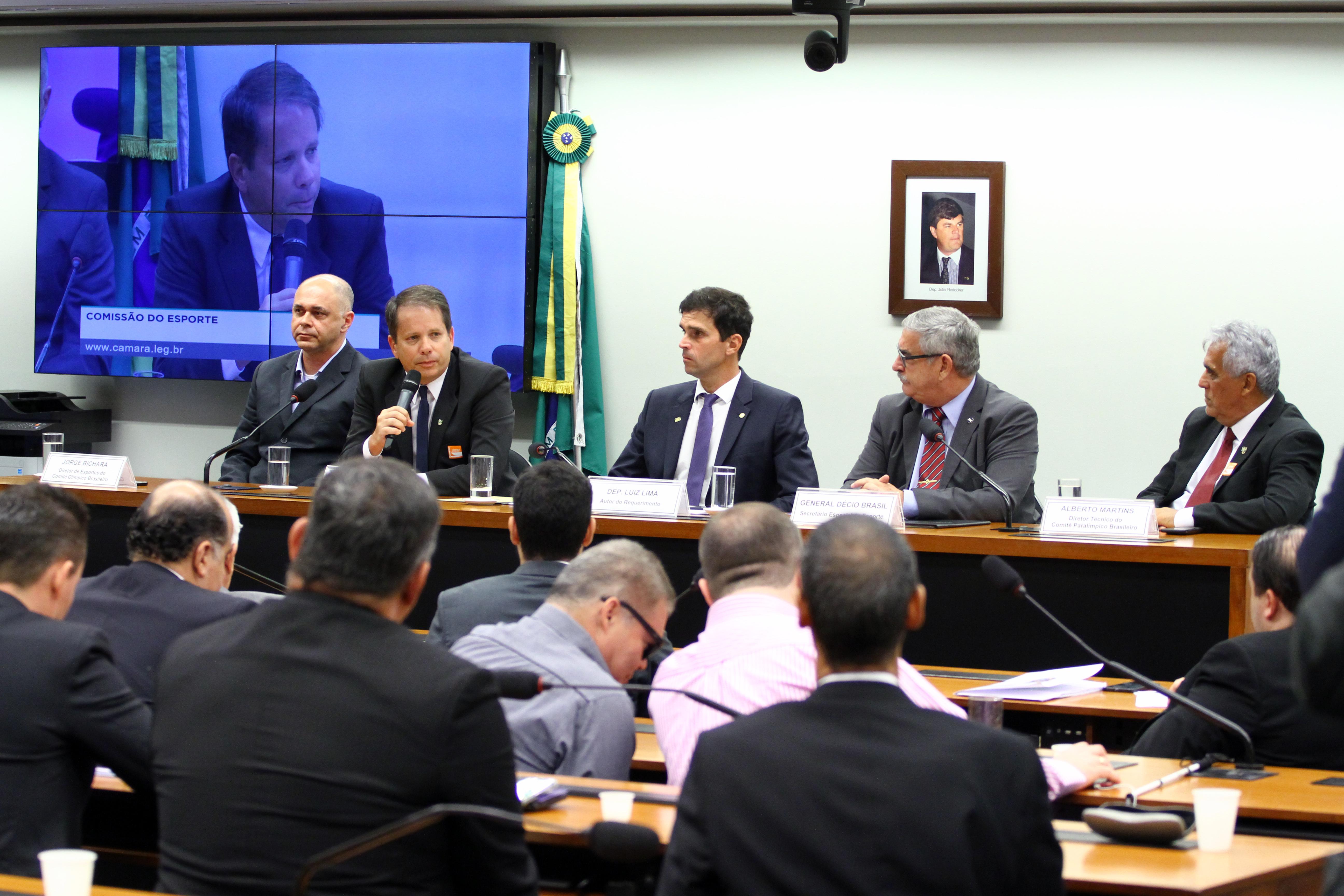 Audiência pública para a preparação das delegações para os Jogos Olímpicos e Paralímpicos de 2020
