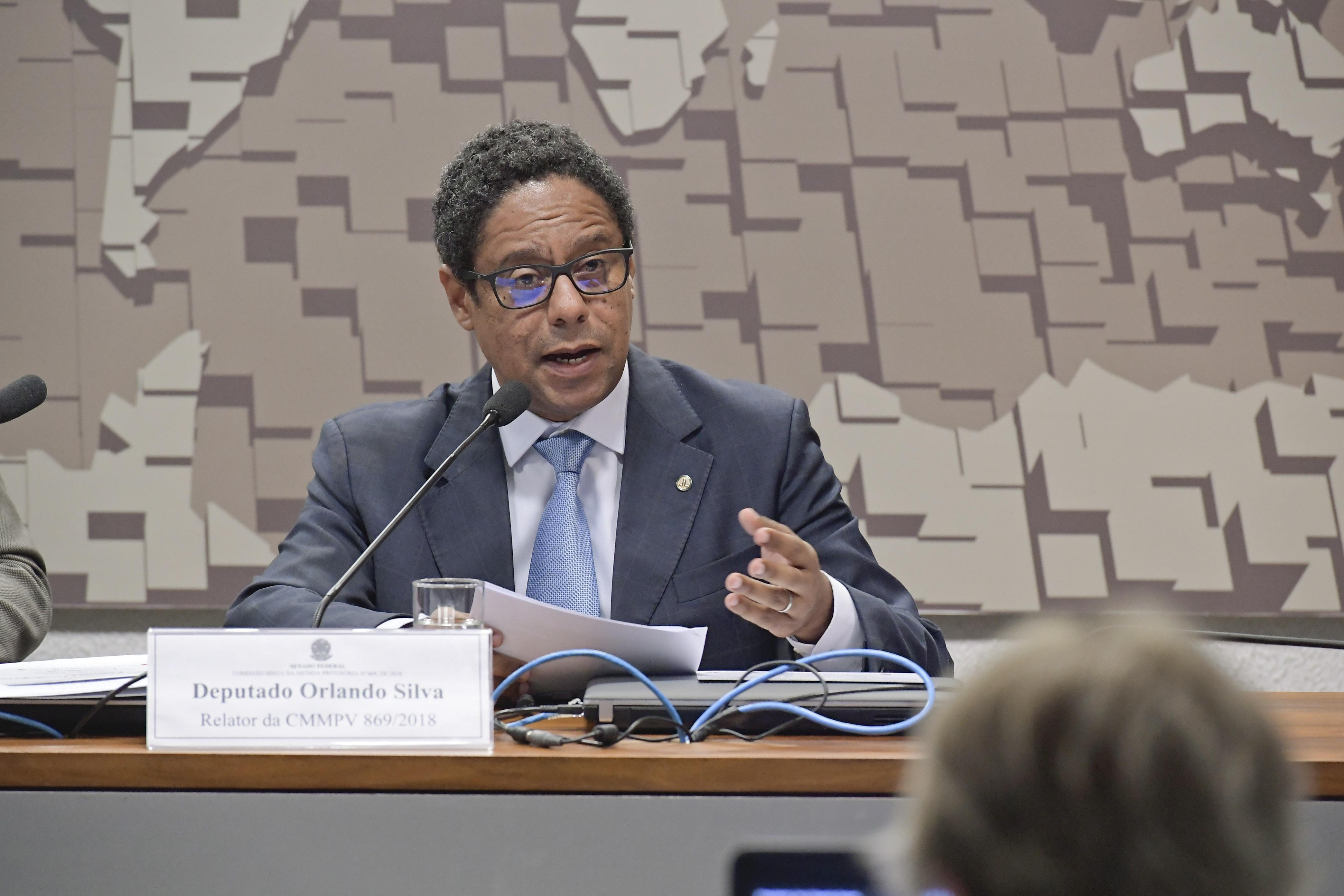Orlando Silva. Reunião da Comissão Mista da Medida Provisória 869/18