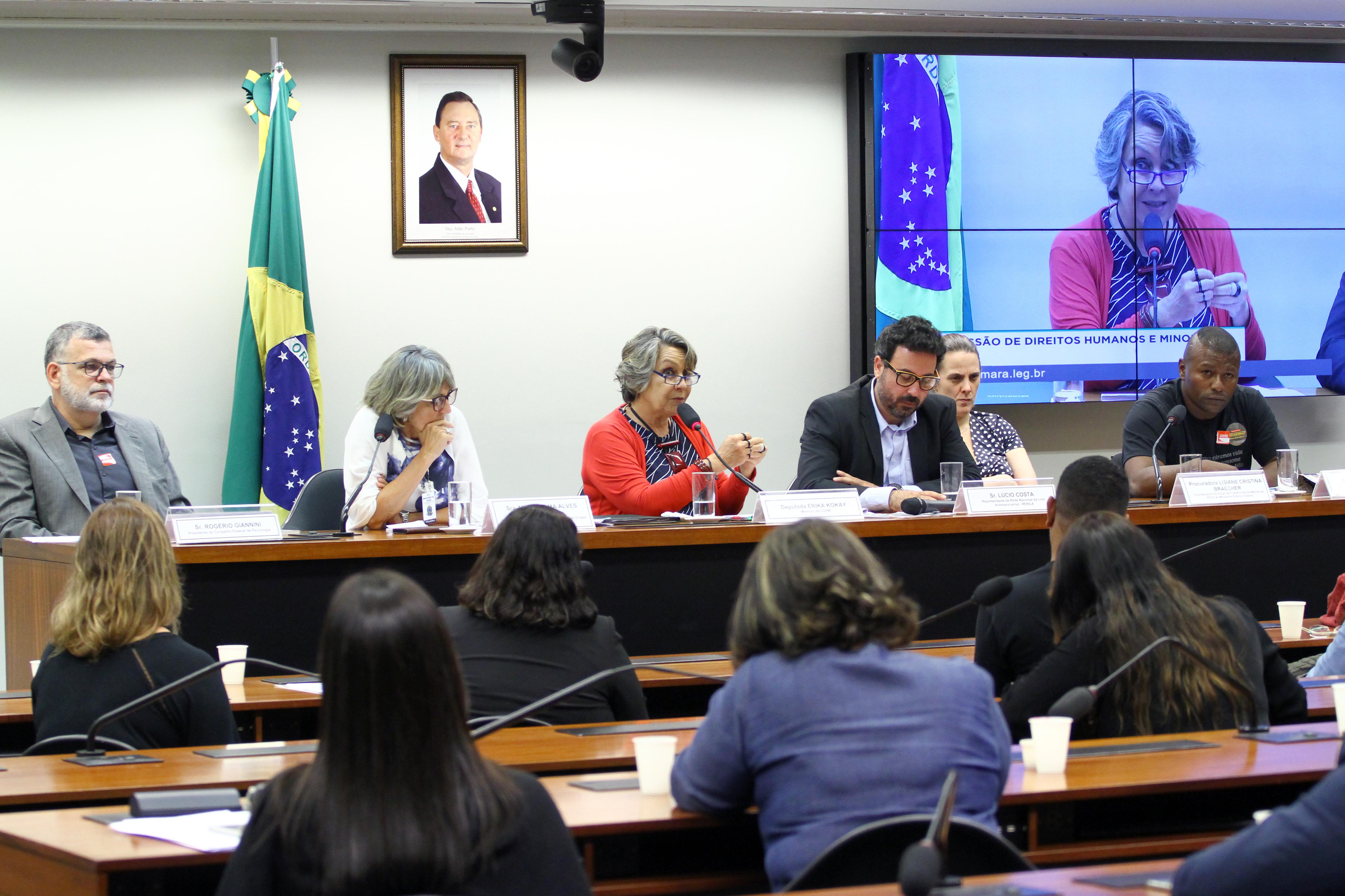 Audiência pública sobre as mudanças na política de saúde mental, álcool e outras drogas
