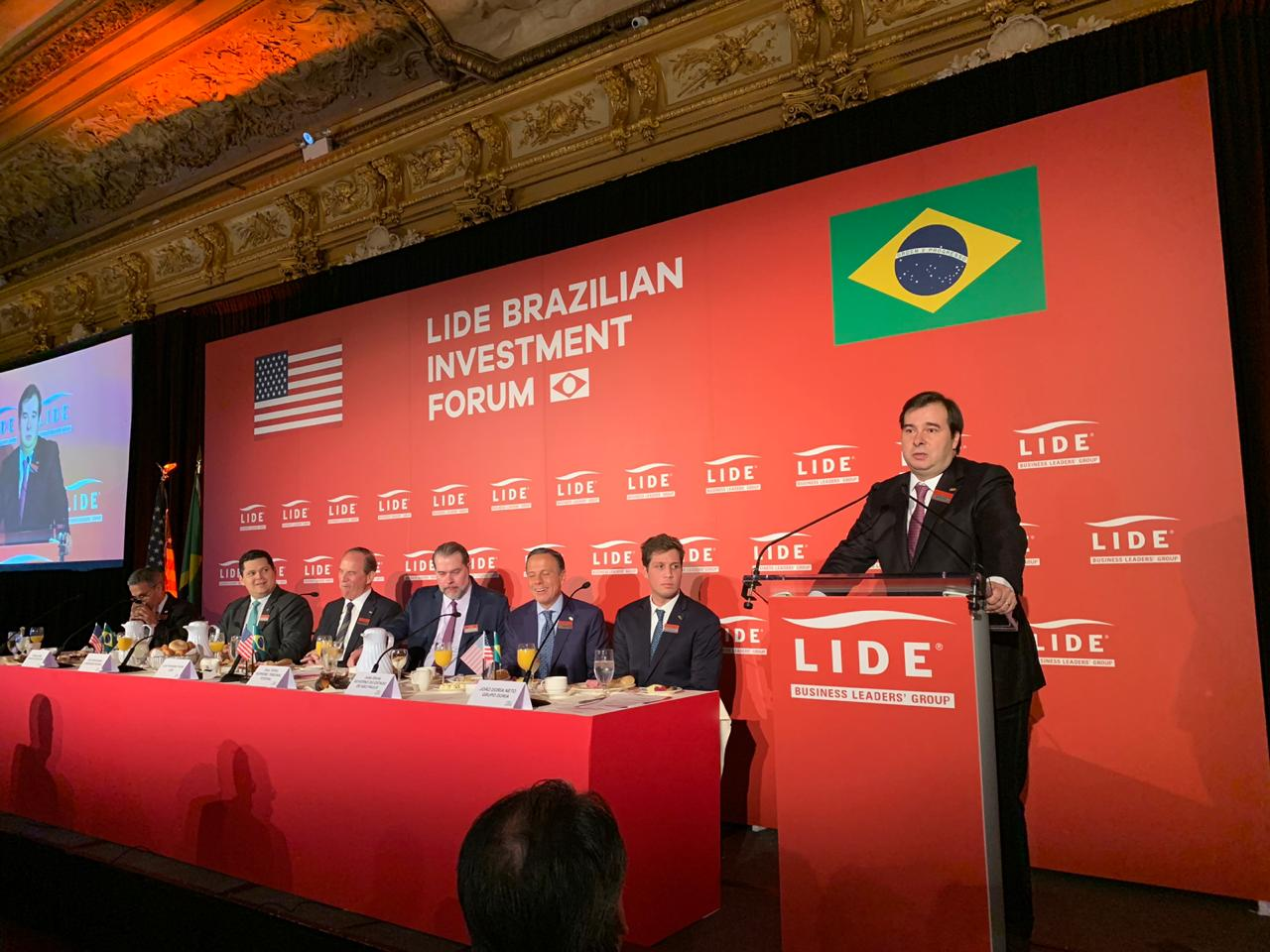 Rodrigo Maia - NY - Nova Iorque - Lide Brazilian Investiment Forum
