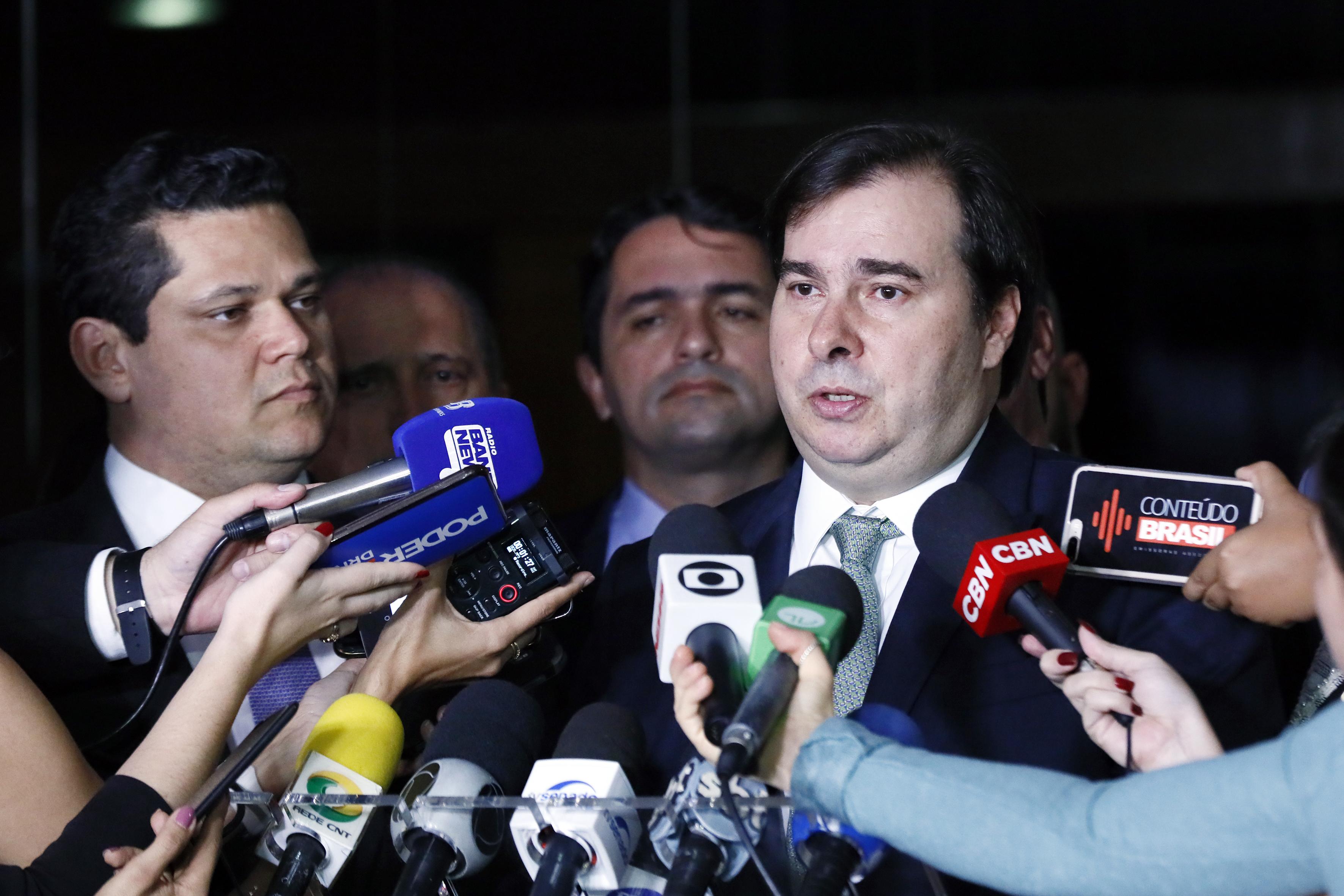 Presidente da Câmara dep. Rodrigo Maia (DEM-RJ), concede entrevista