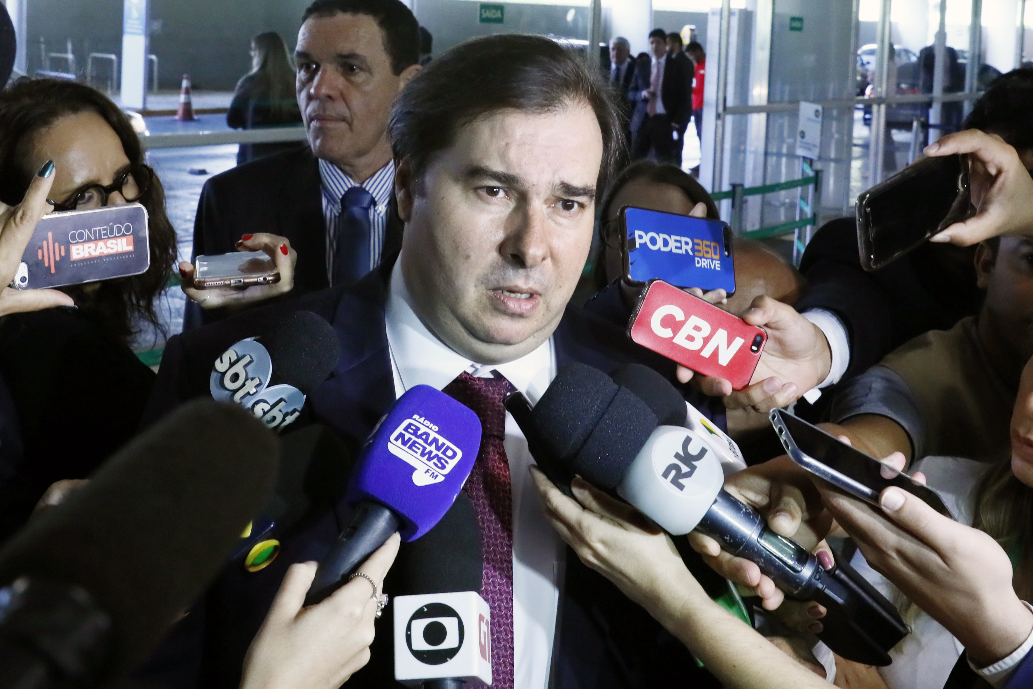 Presidente da Câmara, dep. Rodrigo Maia (DEM-RJ), concede entrevista