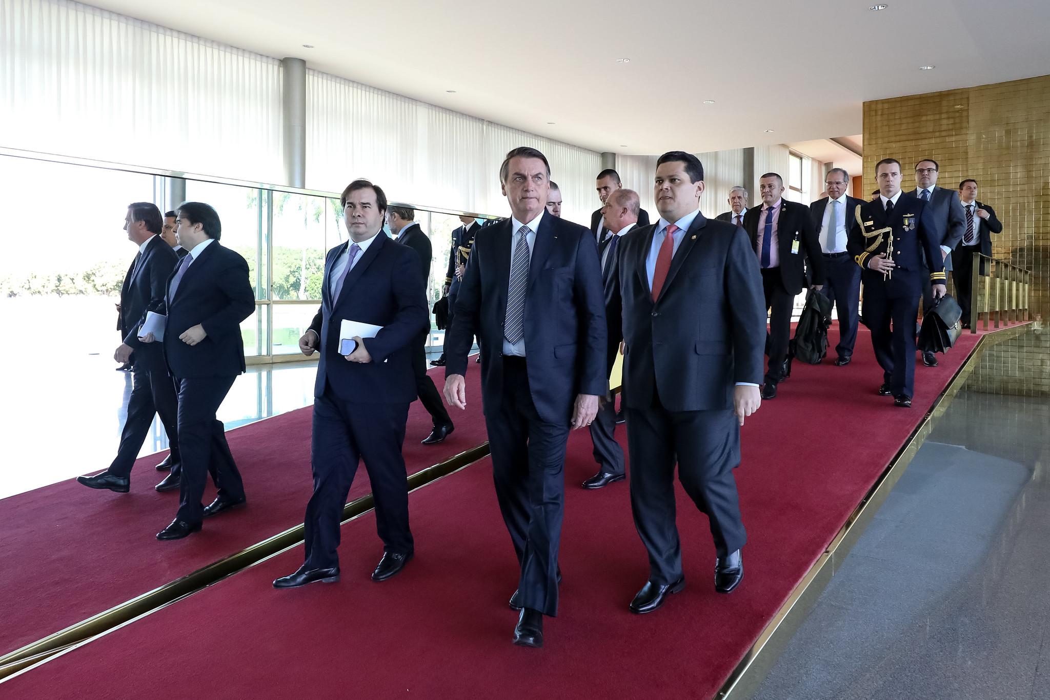 Fotos do Dia - presidente Câmara Rodrigo Maia presidente Senado Davi Alcolumbre presidente República Jair Bolsonaro café da manhã