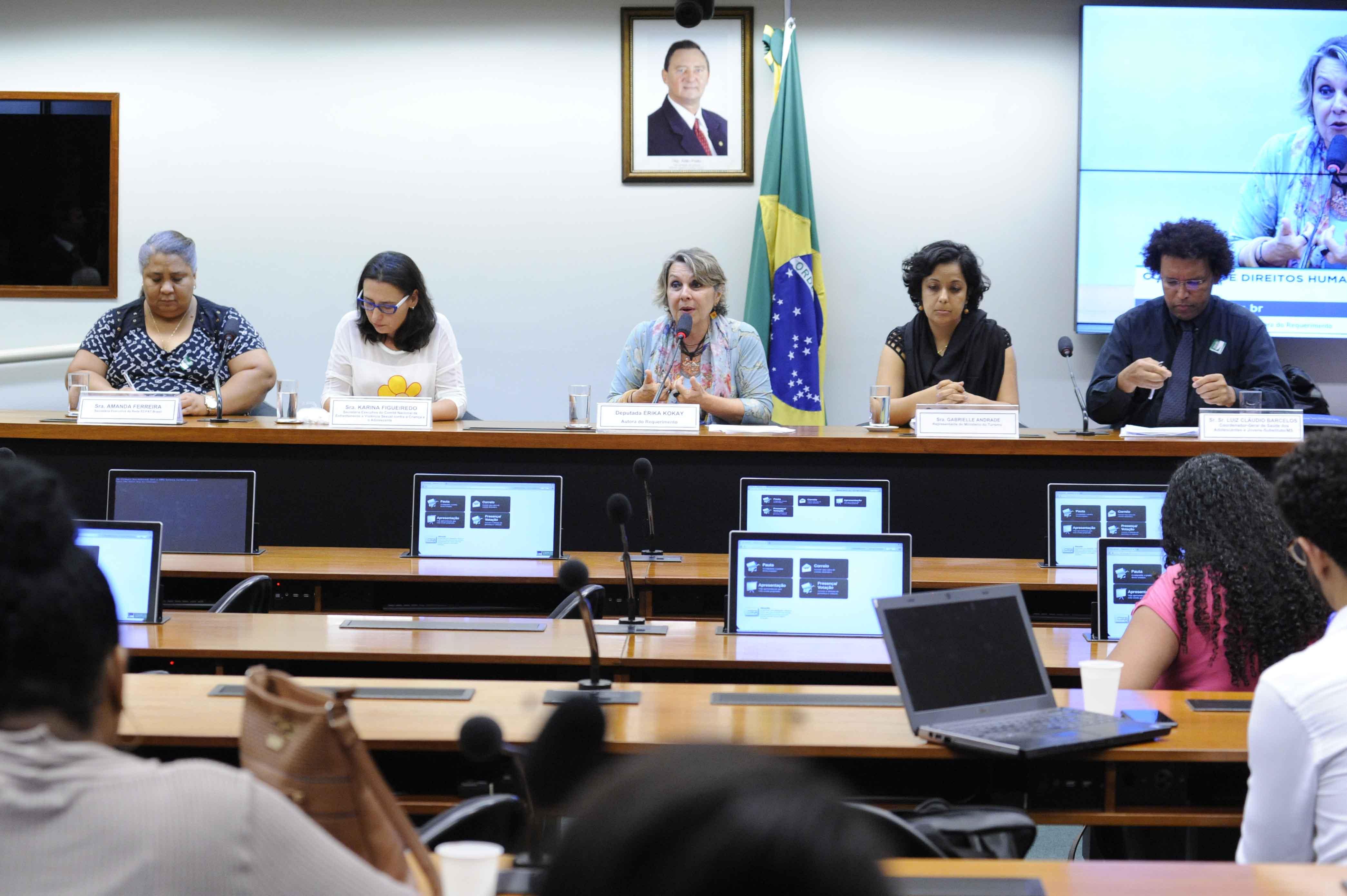 Audiência pública sobre as políticas nacionais de enfrentamento ao abuso e à exploração sexual de crianças e adolescentes no Brasil