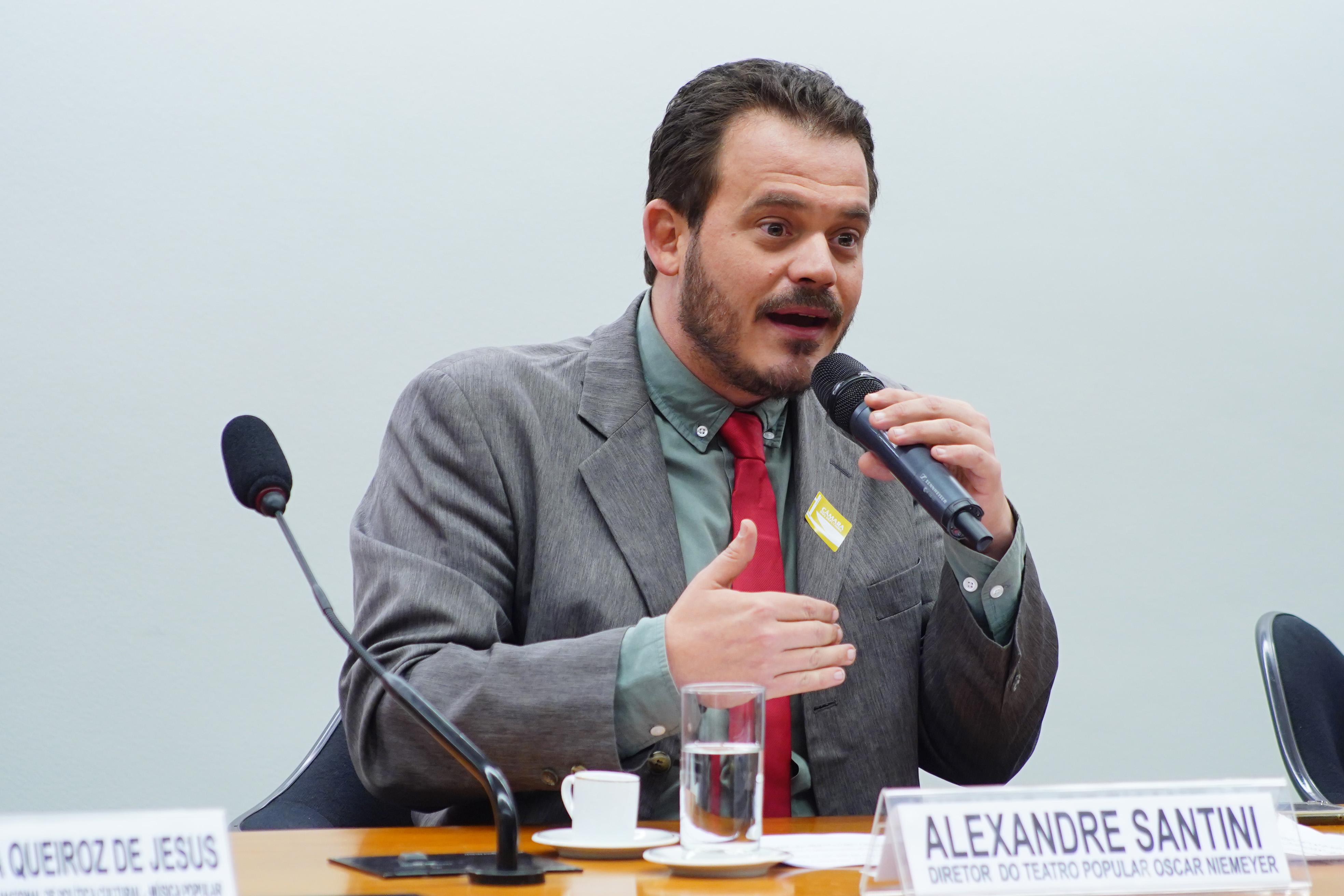 Audiência Pública sobre o Papel e a Reativação do Conselho Nacional de Política Cultural (CNPC). Diretor do Teatro Popular Oscar Niemeyer, Alexandre de Souza Santini Rodrigues