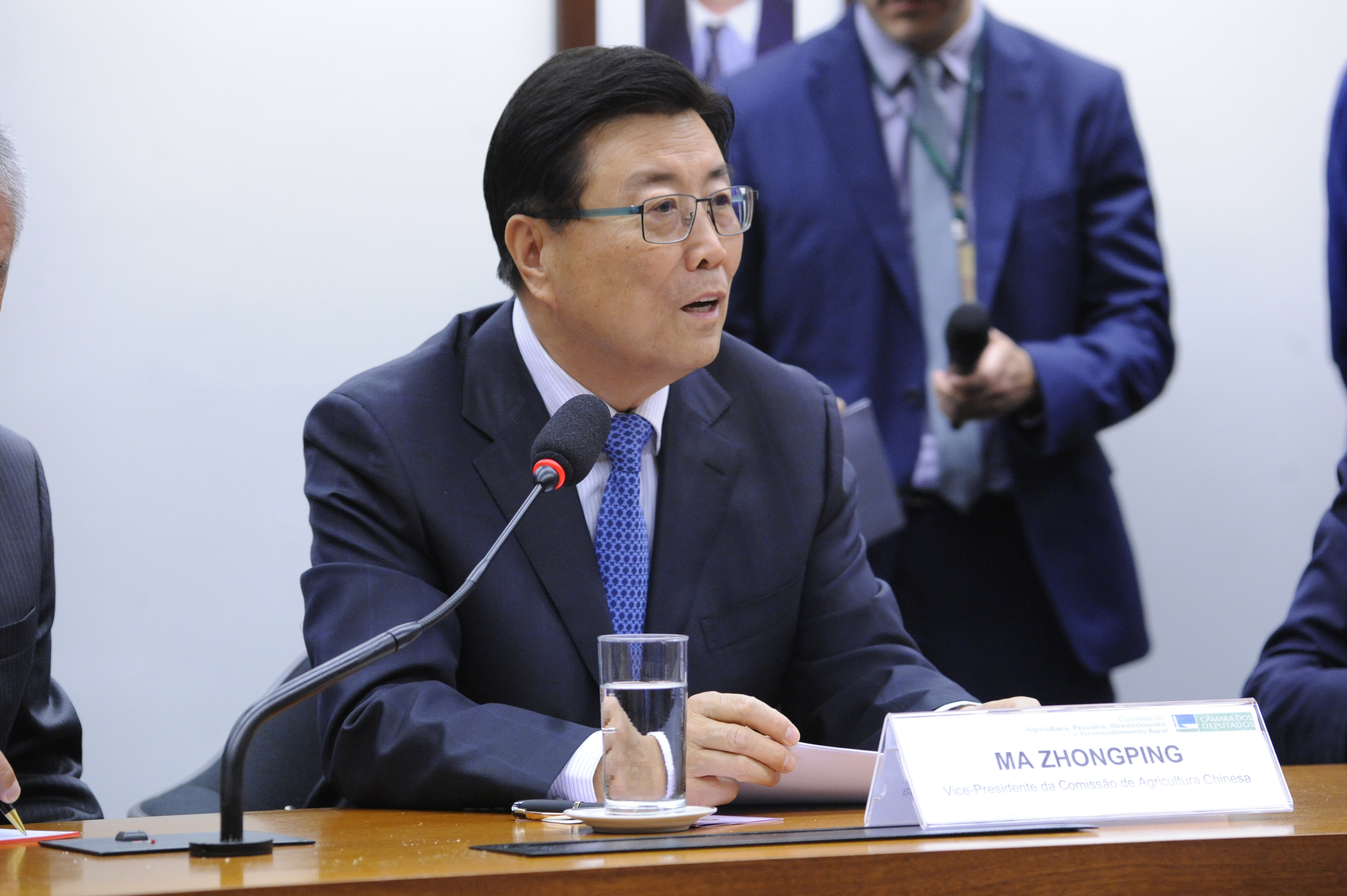 Visita Oficial da Delegação do Parlamento Chinês à Comissão de Agricultura. Vice-Presidente da Comissão de Agricultura Chinesa, Ma Zhongping