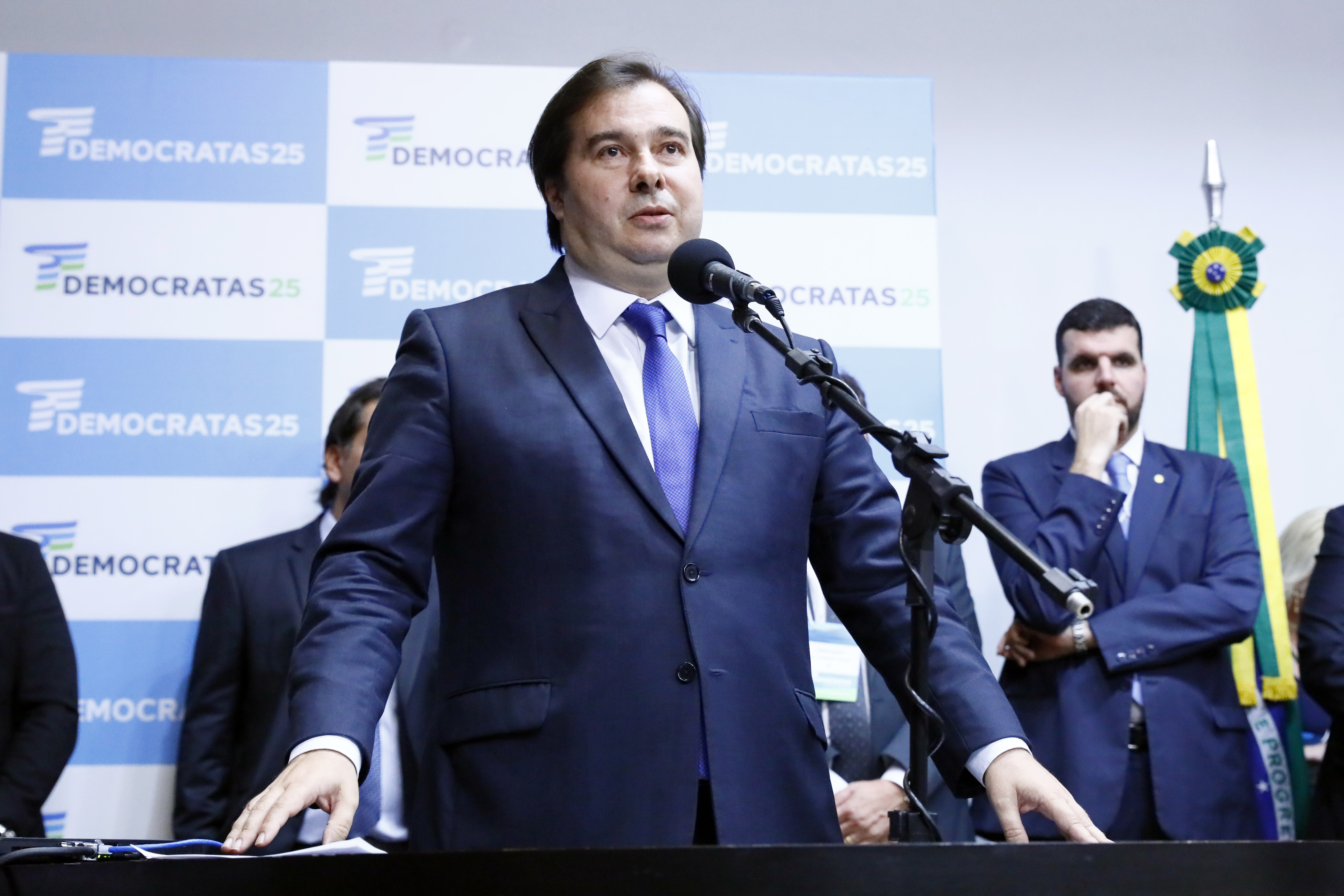 Convenção Nacional do Democratas. Presidente da Câmara, dep. Rodrigo Maia (DEM-RJ)