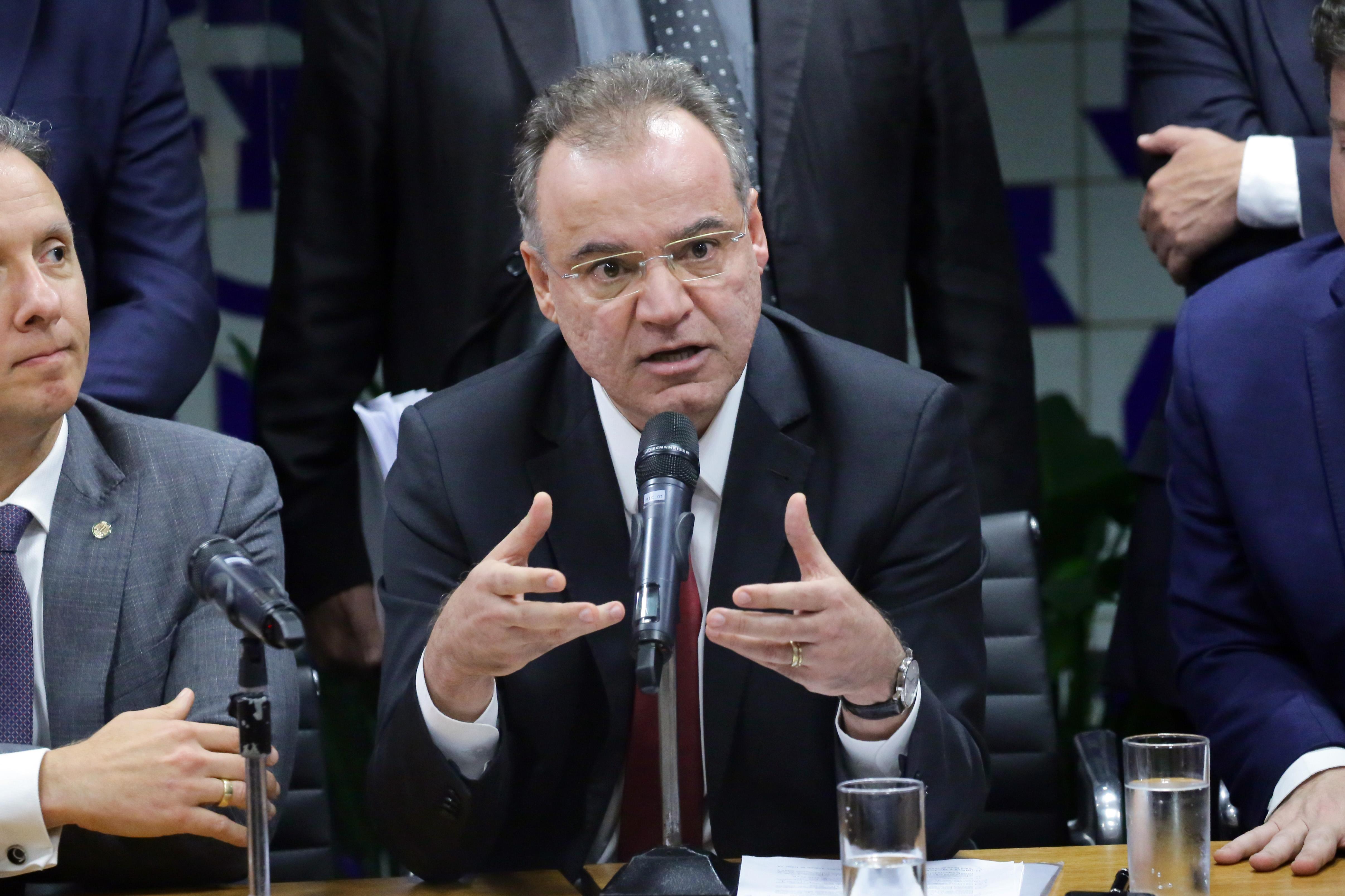 Coletiva de imprensa sobre a Reforma da Previdência. Relator da Reforma da Previdência, dep. Samuel Moreira (PSDB - SP)