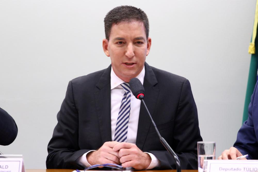 Journalist Glenn Greenwald at the hearing in Brazilian Congress. (Vinicius Loures/Câmara dos Deputados)