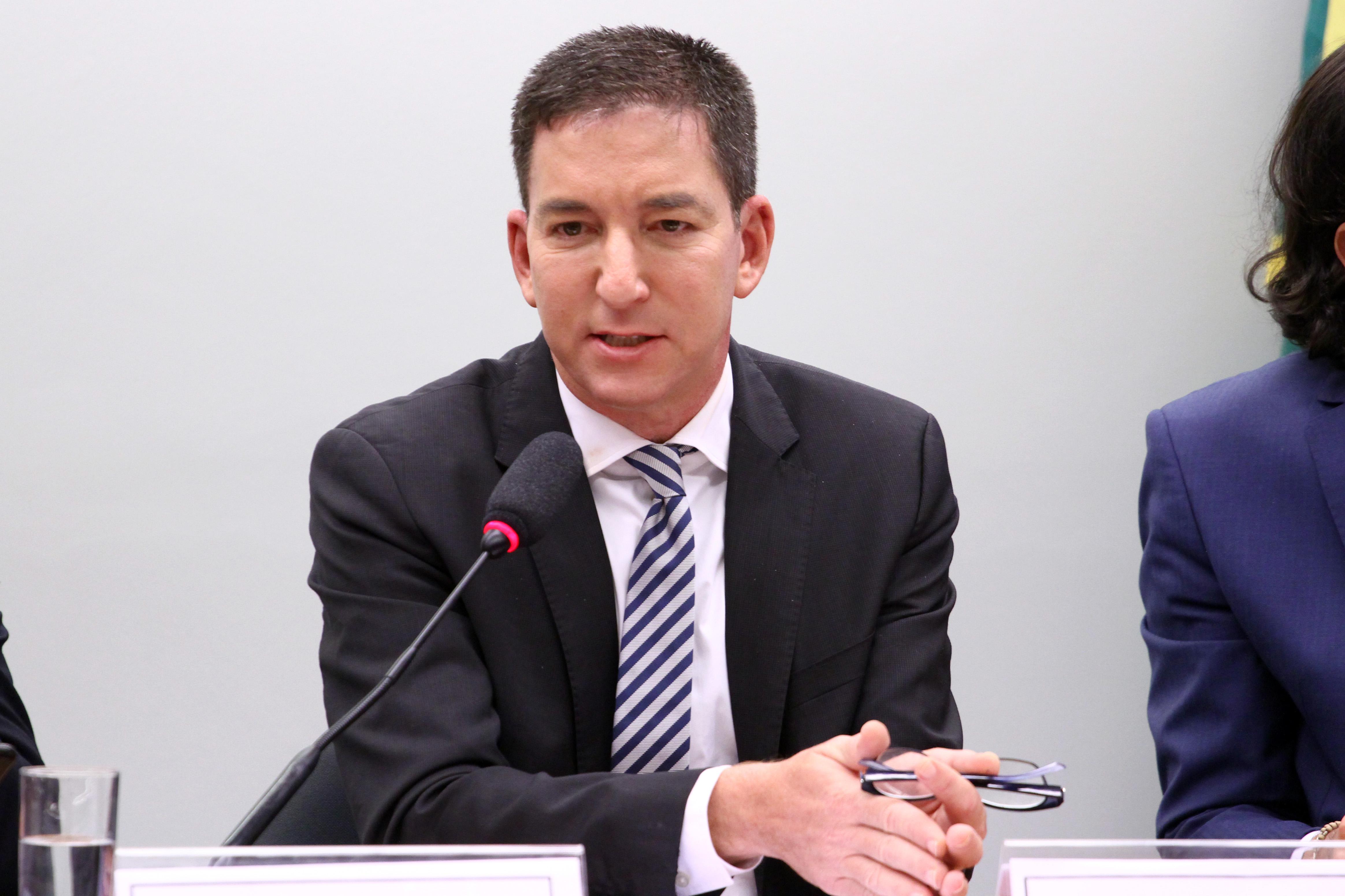Audiência pública sobre a atuação de juízes e procuradores brasileiros no âmbito da Operação Lava Jato. Jornalista fundador do jornal The Intercept, Glenn Greenwald