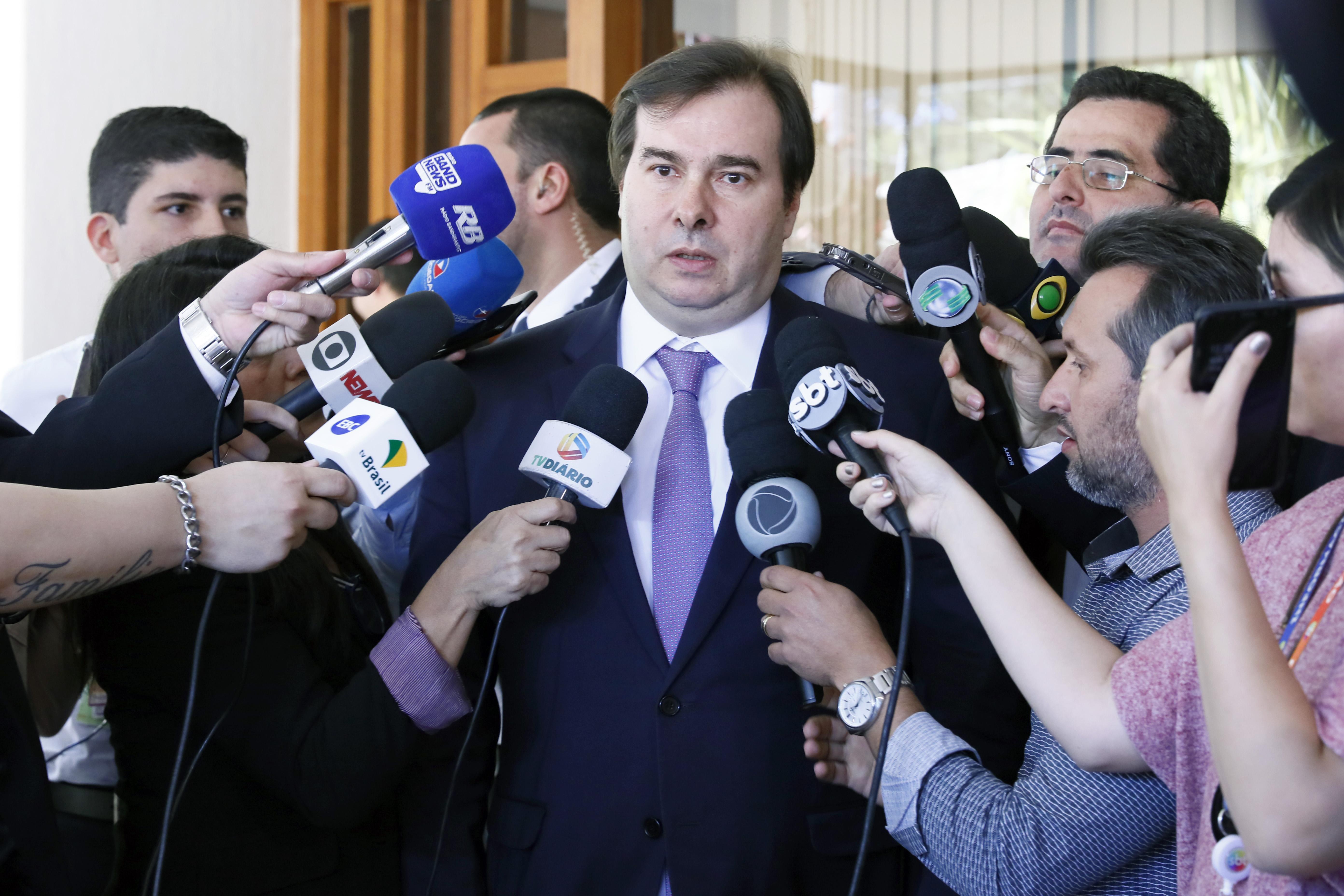 Presidente da câmara, dep. Rodrigo Maia (DEM-RJ)
