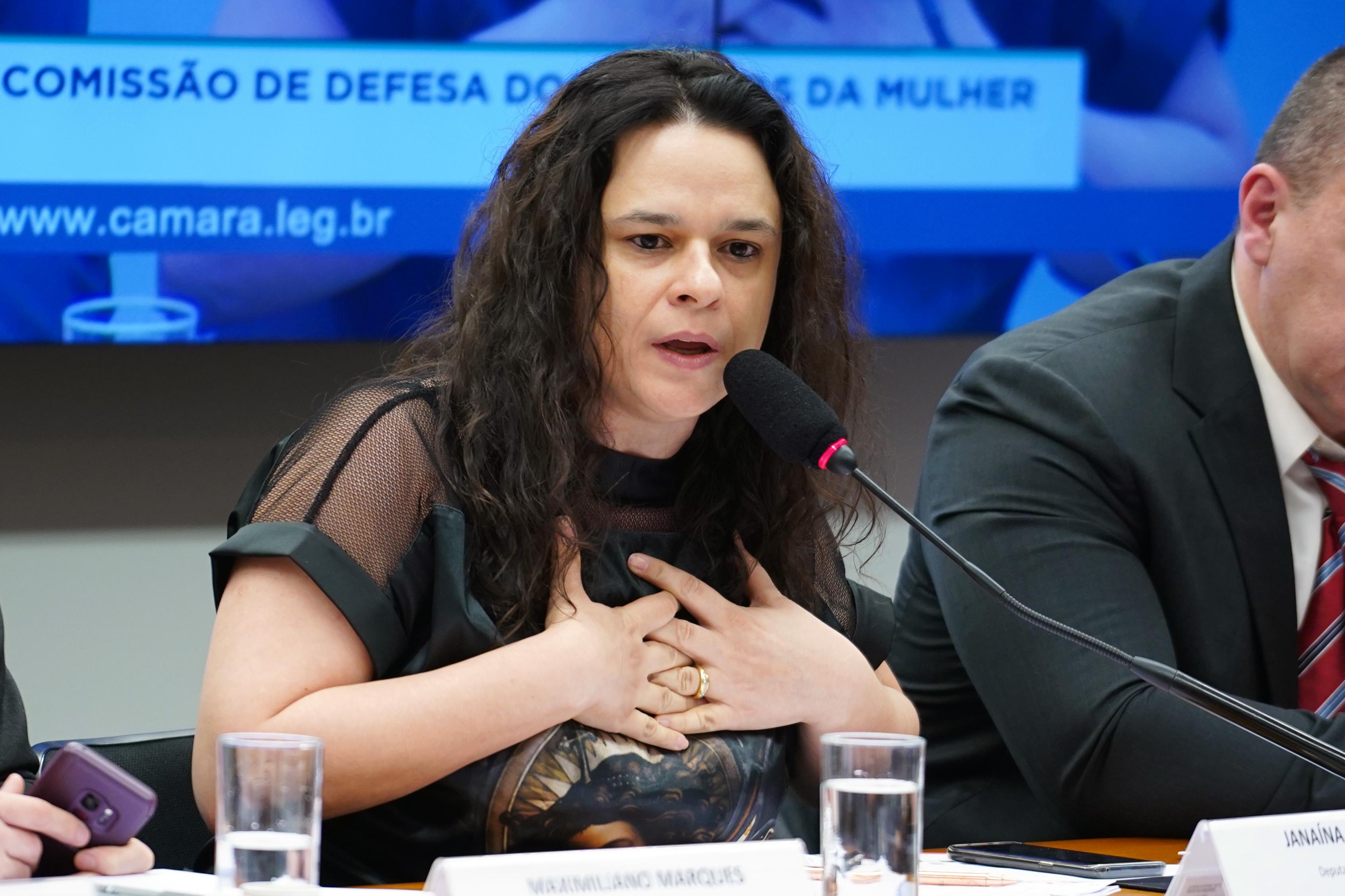 Audiência pública para debater acerca do enfrentamento à violência obstétrica no Brasil. Deputada Estadual e Advogada, Janaína Paschoal