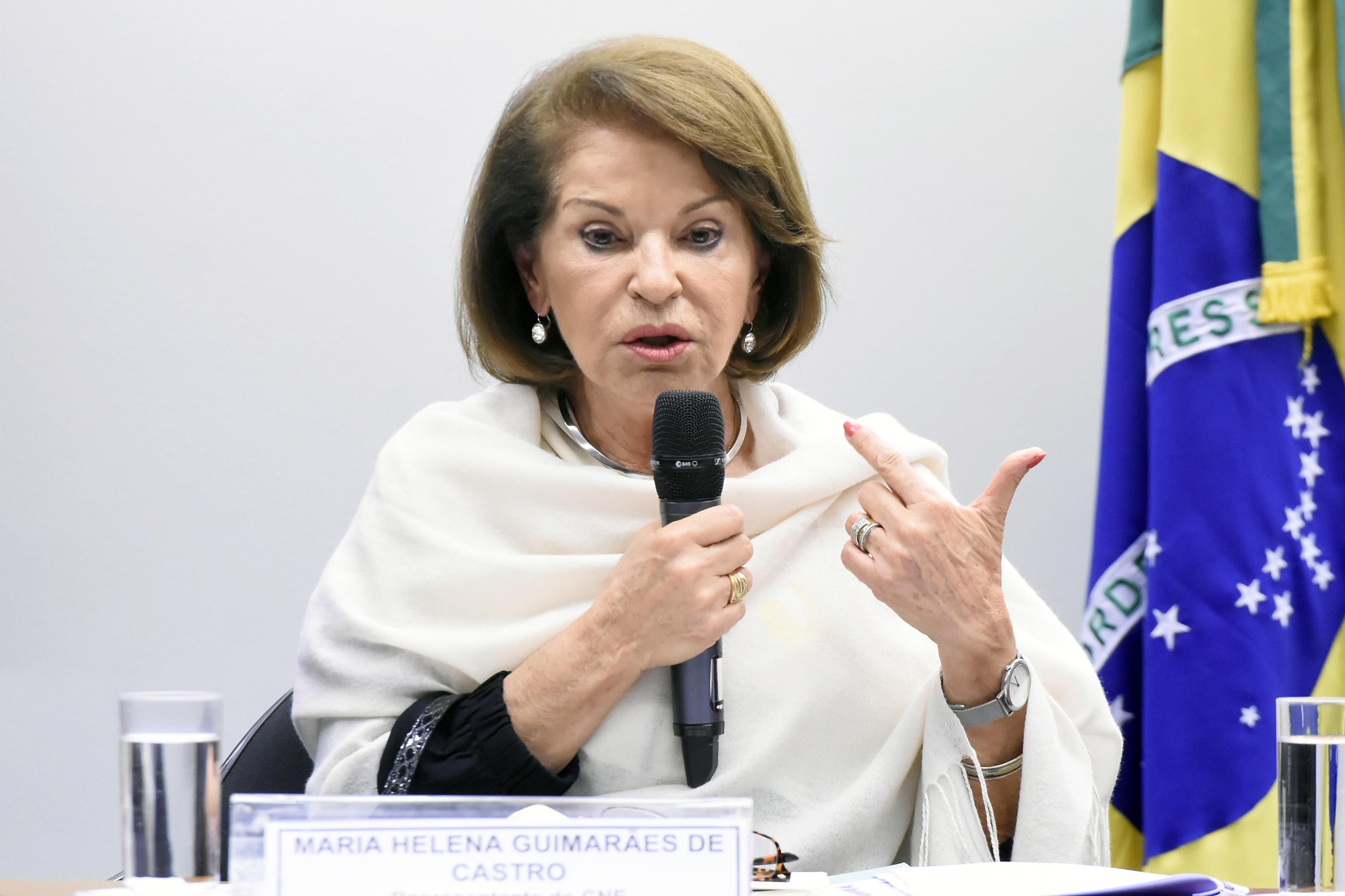 Audiência pública sobre o planejamento e preparações para aplicação do ENEM em 2019. Representante do Conselho Nacional de Educação, Maria Helena Guimarães de Castro