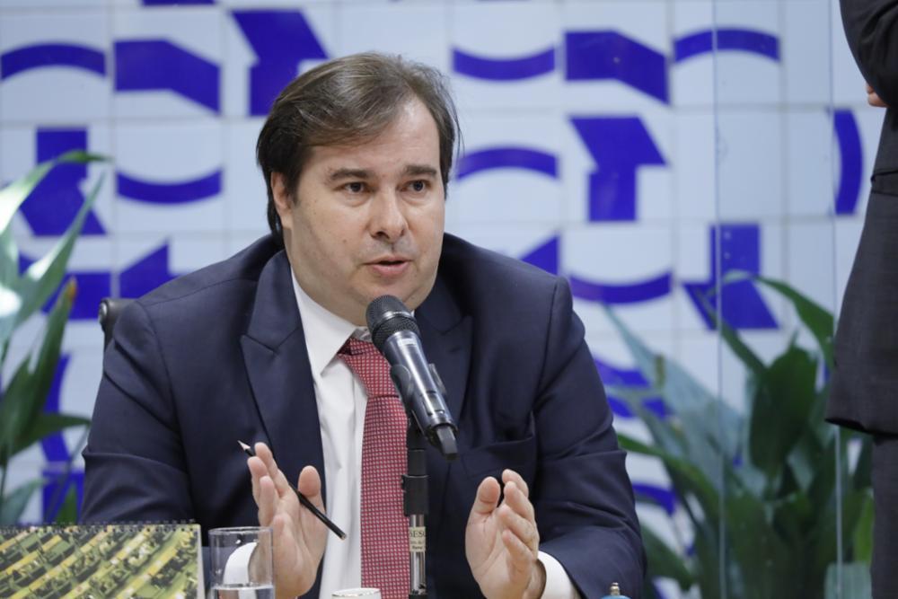 Reunião de líderes para discussão da pauta da semana. Presidente da Câmara, dep. Rodrigo Maia (DEM-RJ)