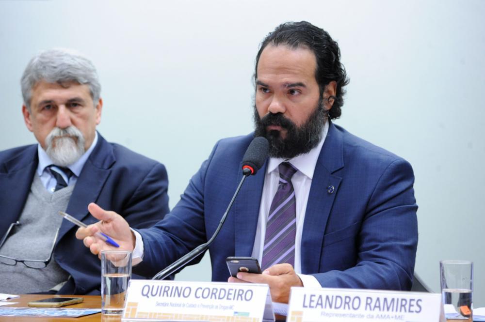 Audiência pública sobre a regulamentação da Cannabis Medicinal no Brasil. Representante do Ministro de Estado da Cidadania, Quirino Cordeiro