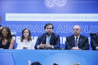 """Audiência Pública - Tema: """"Monitoramento da Implementação do Marco Legal da Primeira Infância"""". Presidente da Câmara dos Deputados, dep. Rodrigo Maia (DEM-RJ)"""