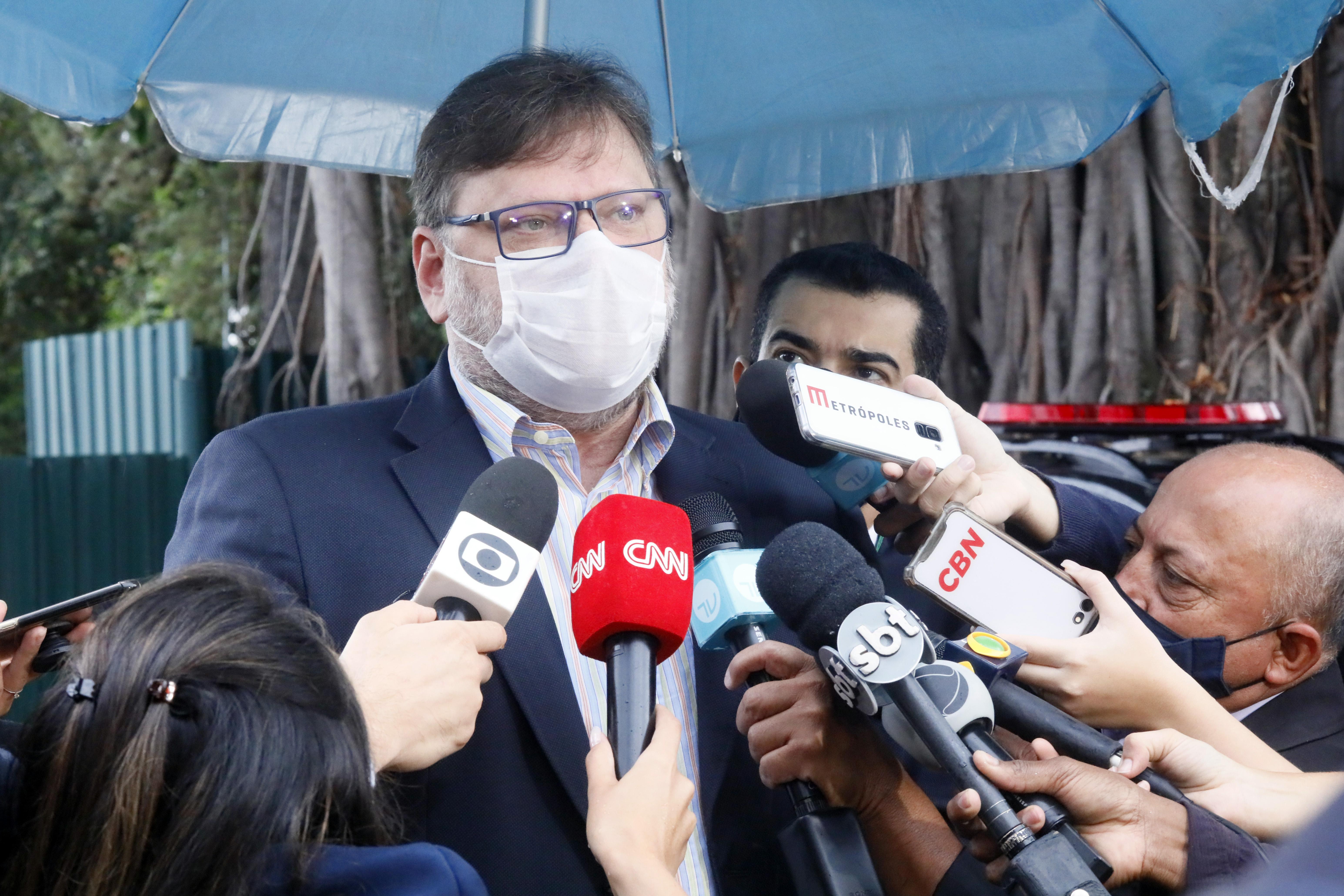 O Corregedor da Câmara dos Deputados, deputado Paulo Bengtson concede entrevista coletiva
