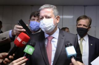 Presidente da Câmara, Arthur Lira PP - AL concede entrevista