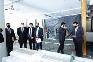 Visita do Presidente, dep. Arthur Lira , ás novas instalações do gabinete da Presidência da Câmara