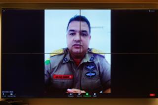 Queimadas no Acre. Coronel do Corpo de Bombeiros Militar do Estado do Acre, Coronel Charles da Silva Santos