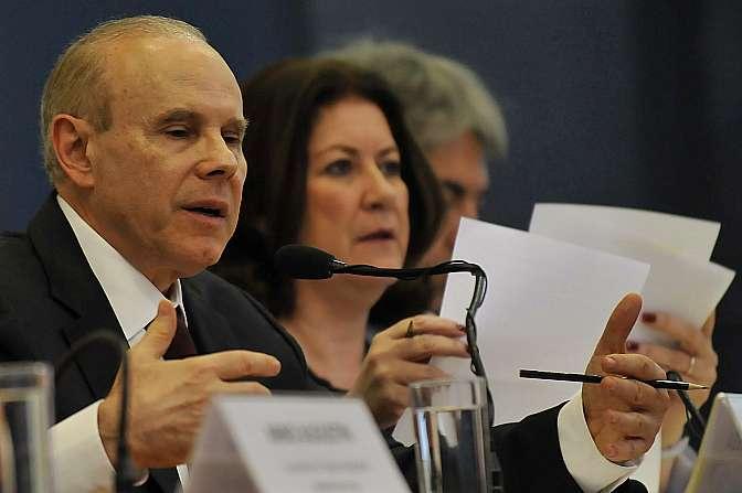 Ministros Guido Mantega e Miriam Belchior