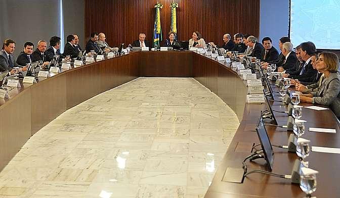 Reunião da presidente Dilma Rousseff com o conselho político.