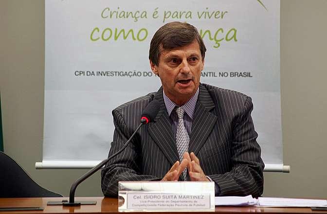 Reunião Ordinária. Vice-Presidente do Departamento de Competições da Federação Paulista de Futebol, Izidro Suita Martinez